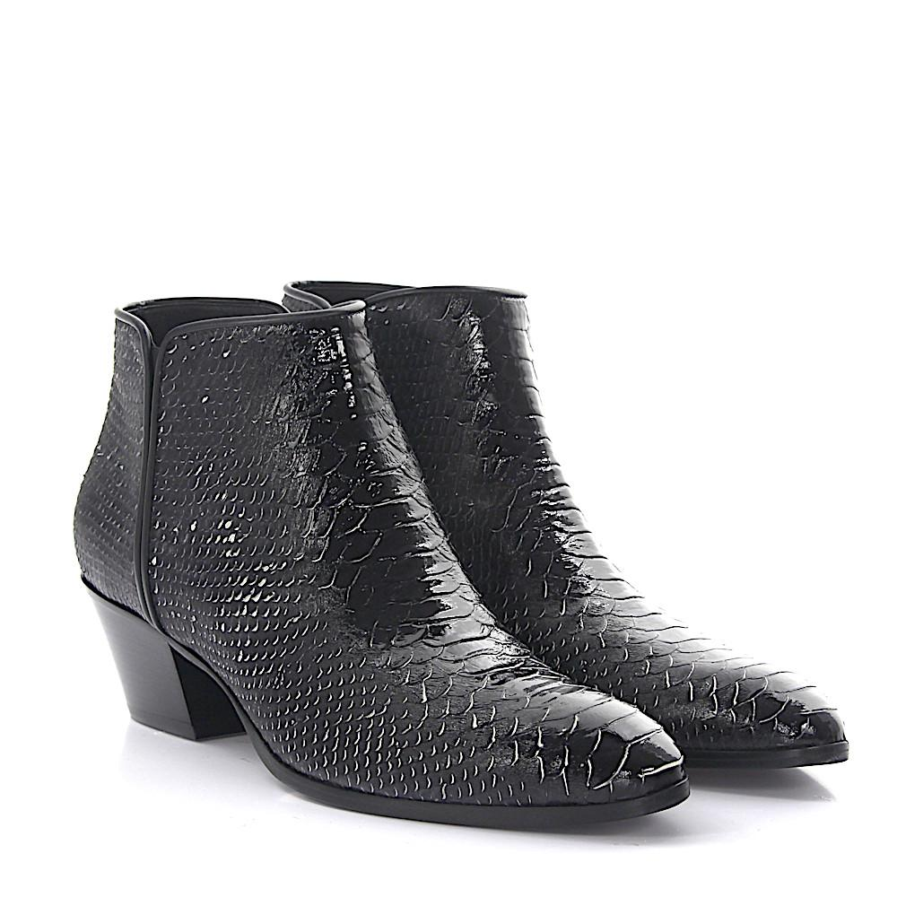Giuseppe Zanotti Boots Daddy leather snake embossment