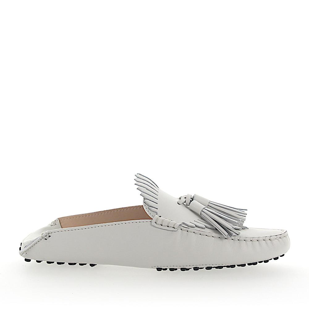 a111a2d7565 Lyst - Tod s Slipper Mocassins G0x070 Leather White Frays in White