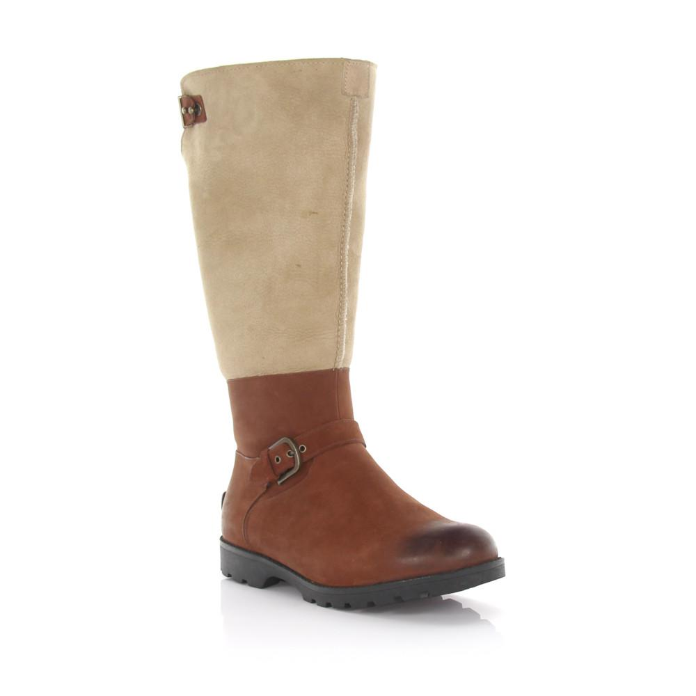 UGG Knee boots Daleane leather finished sheep leather beige sheepskin