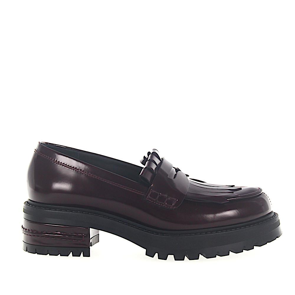 11f815d1d5b Lyst - Dior Penny Loafer Fight Plateau Leather Bordeaux Foldover ...