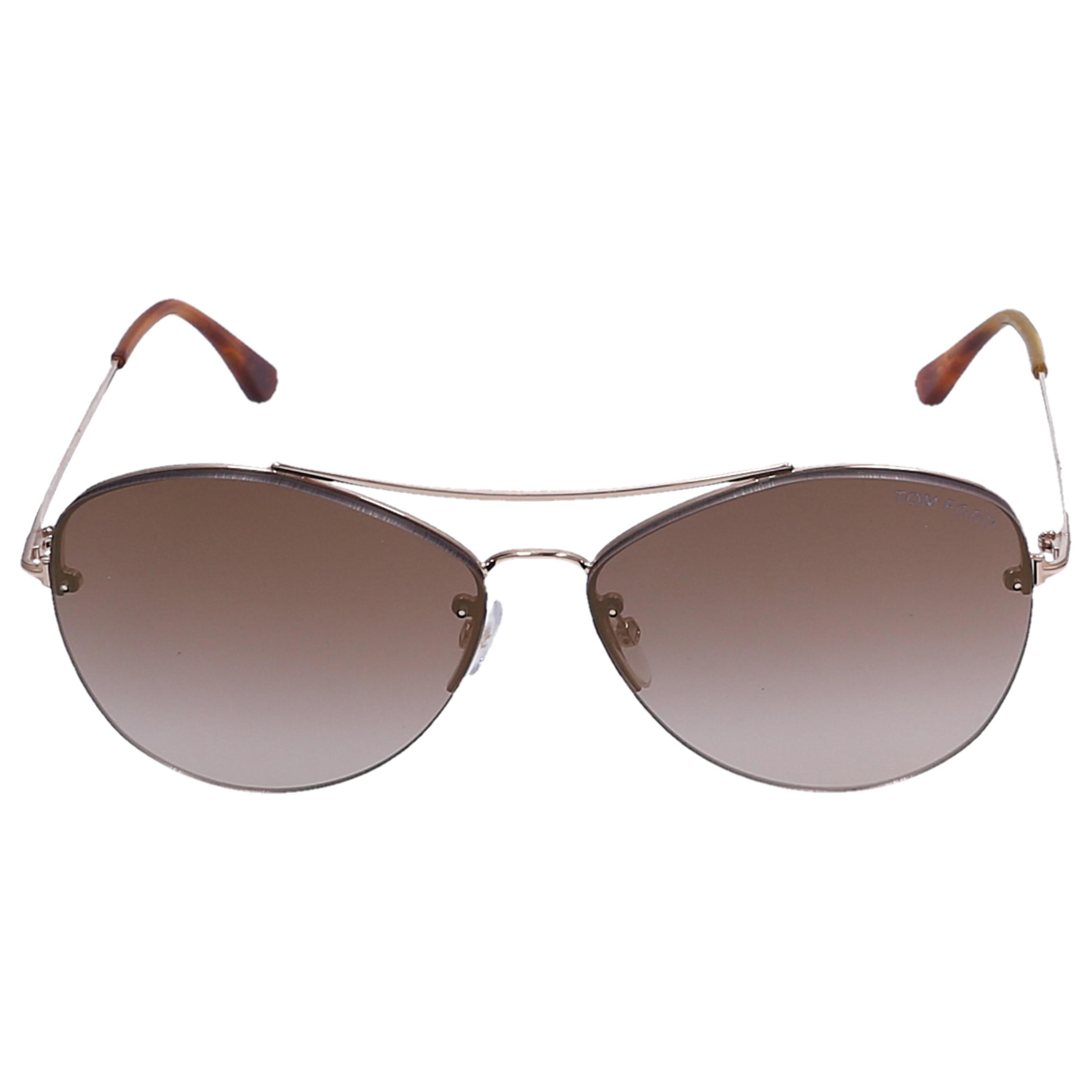 bf60b84ddca7e Lyst - Tom Ford Sunglasses Aviator 28g Metal Gold in Brown