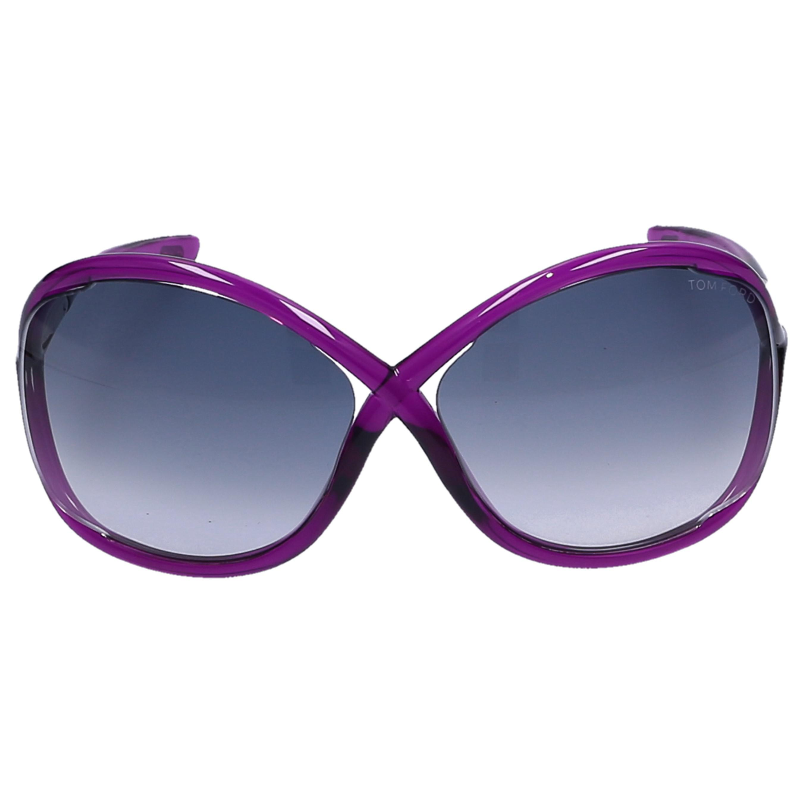 98c28e56ab7 Lyst - Tom Ford Sunglasses Oversize 9 Acetate Purple in Blue