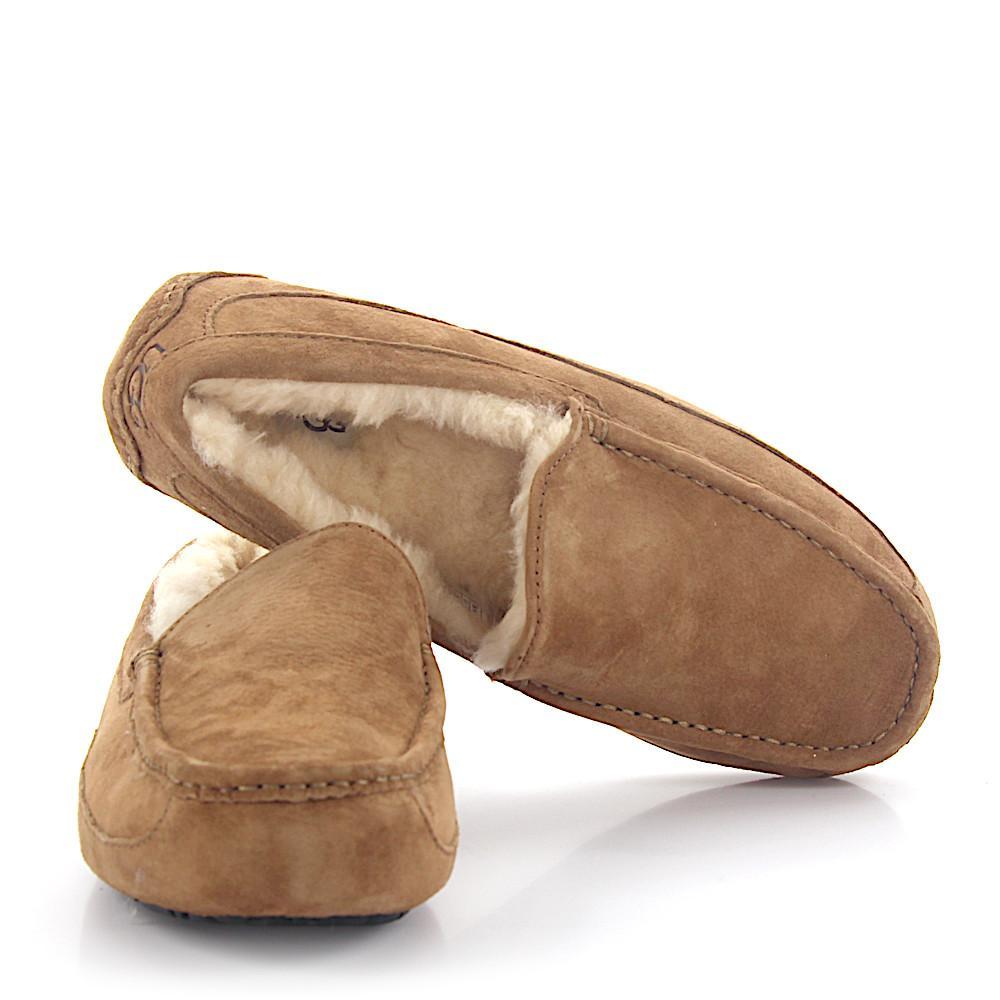 20c412d3fd20 Ugg - Natural House Slippers Ascot Suede Beige Lamb Fur for Men - Lyst.  View fullscreen