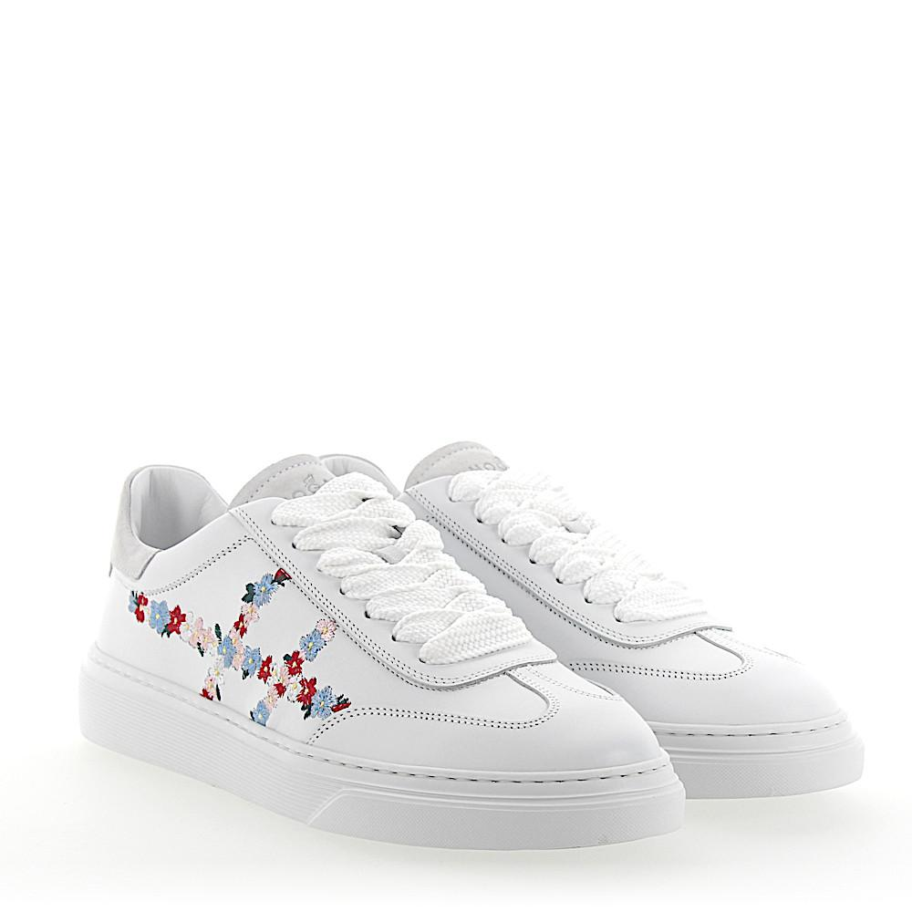 Hogan Sneakers H365 leather flower embroidery ncXEx