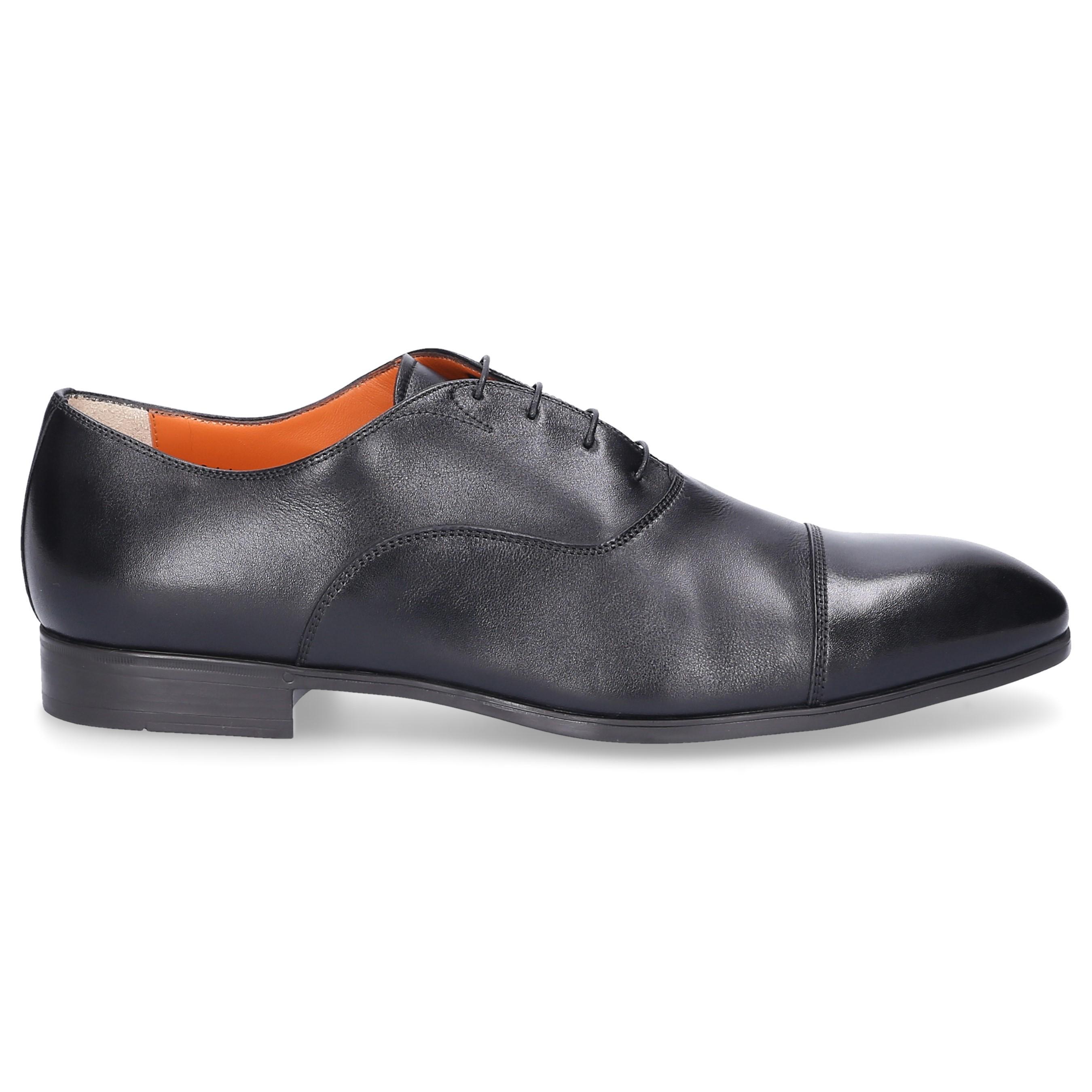 42a3be0b2b01a3 Lyst - Santoni Derby 11011 Leather Black in Black for Men