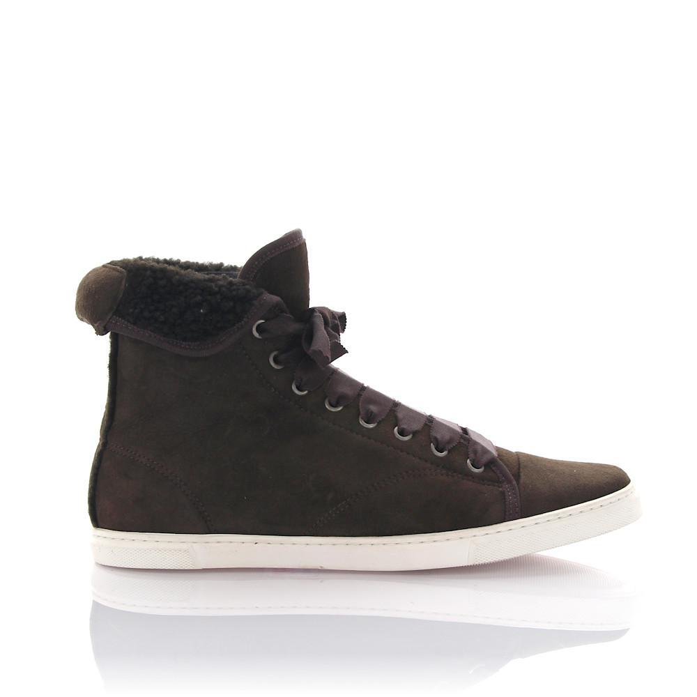 Lanvin Sneakers high sheepskin sheep fur xwKy1
