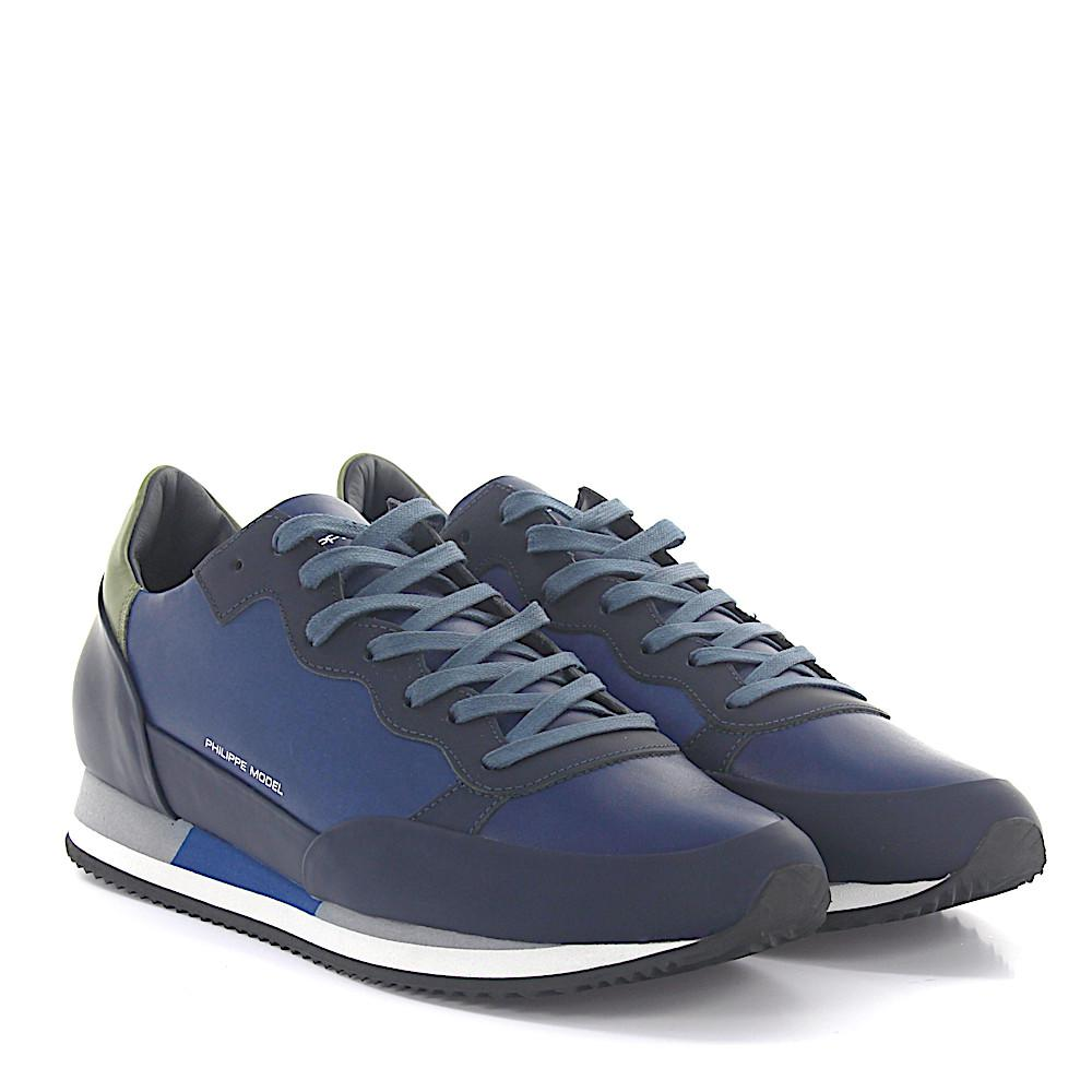 Sneaker PARADIS LOW leather blue-combination Philippe Model Pz0rTxx
