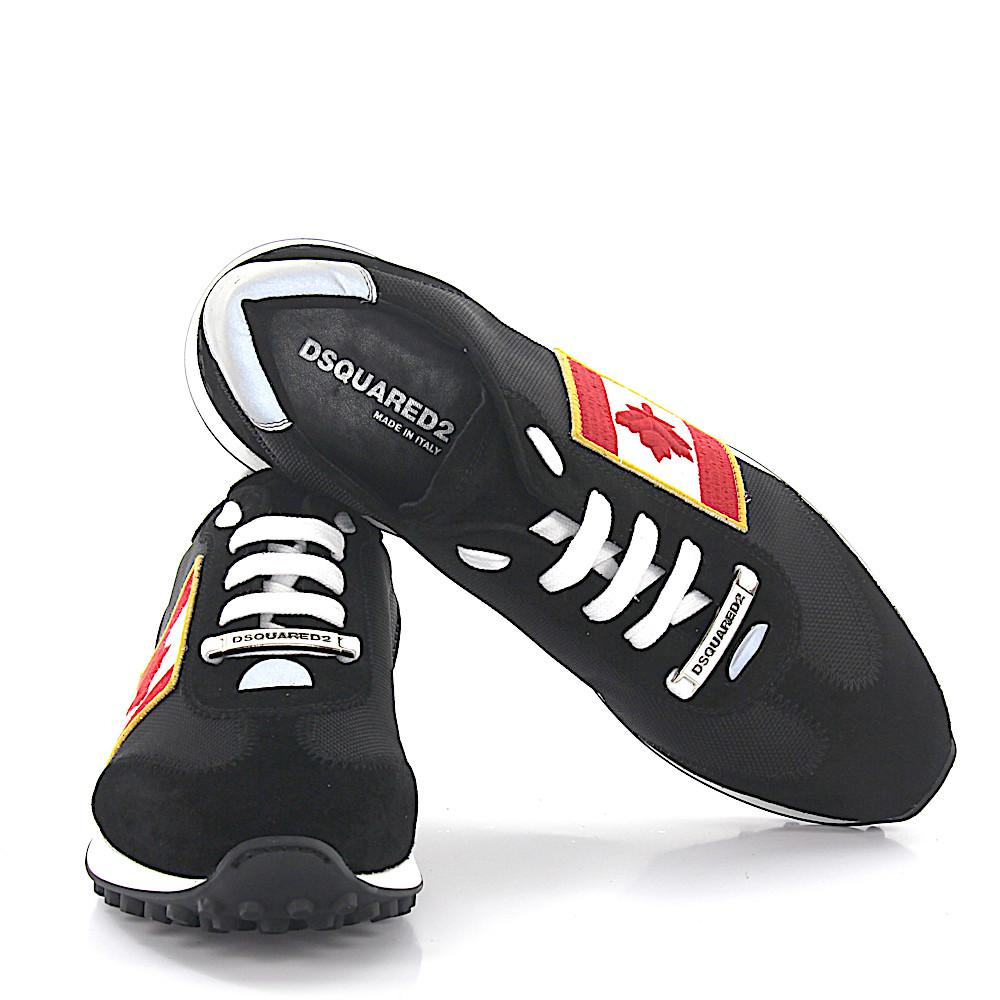 Dsquared2Sneakers RUNNER leather multicolour Hightech-Jersey nxRbzF3oTY