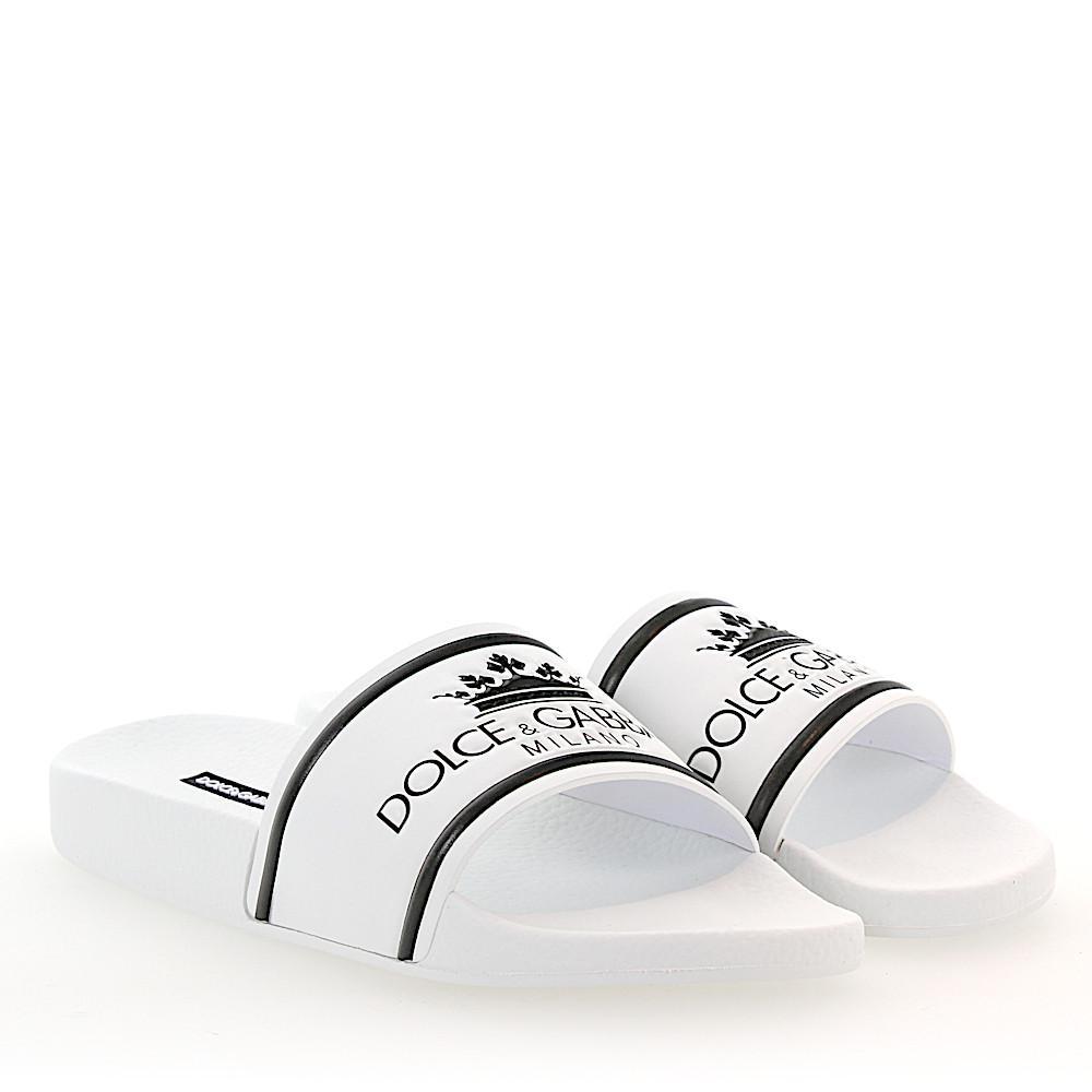 Sandals CIABATTA gum Logo white Dolce & Gabbana dxEsiWeL