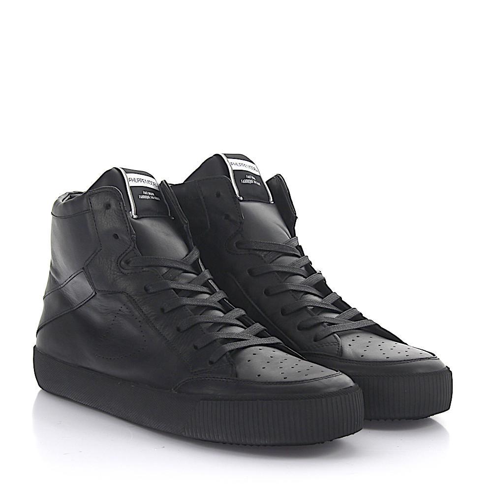 buy popular fa3ef ff73c philippe-model-black-Sneakers-High-Top-Leather-Black.jpeg