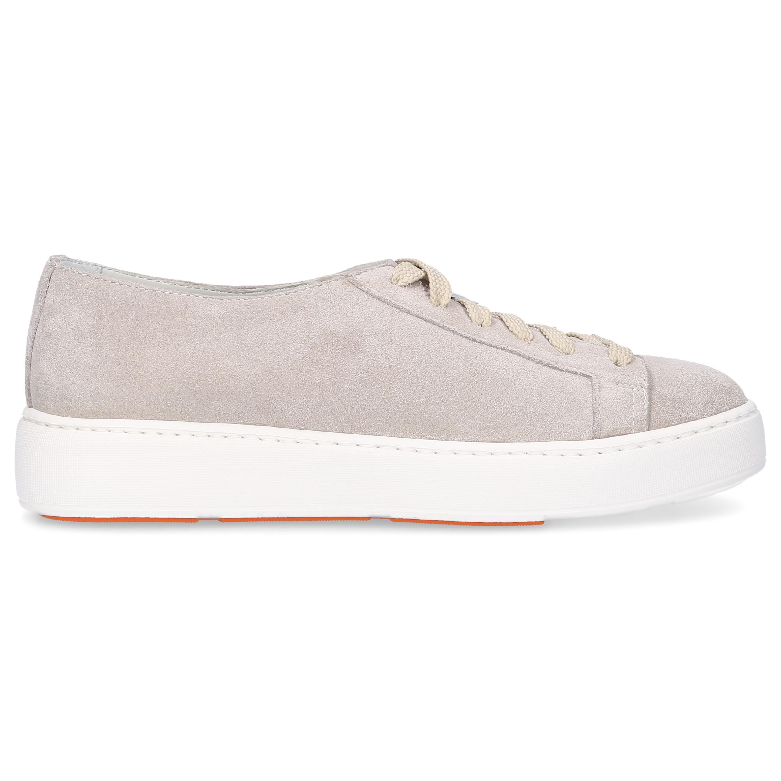 Gray Lyst Santoni Suede Sneakers Grey In LMqUzVpGS