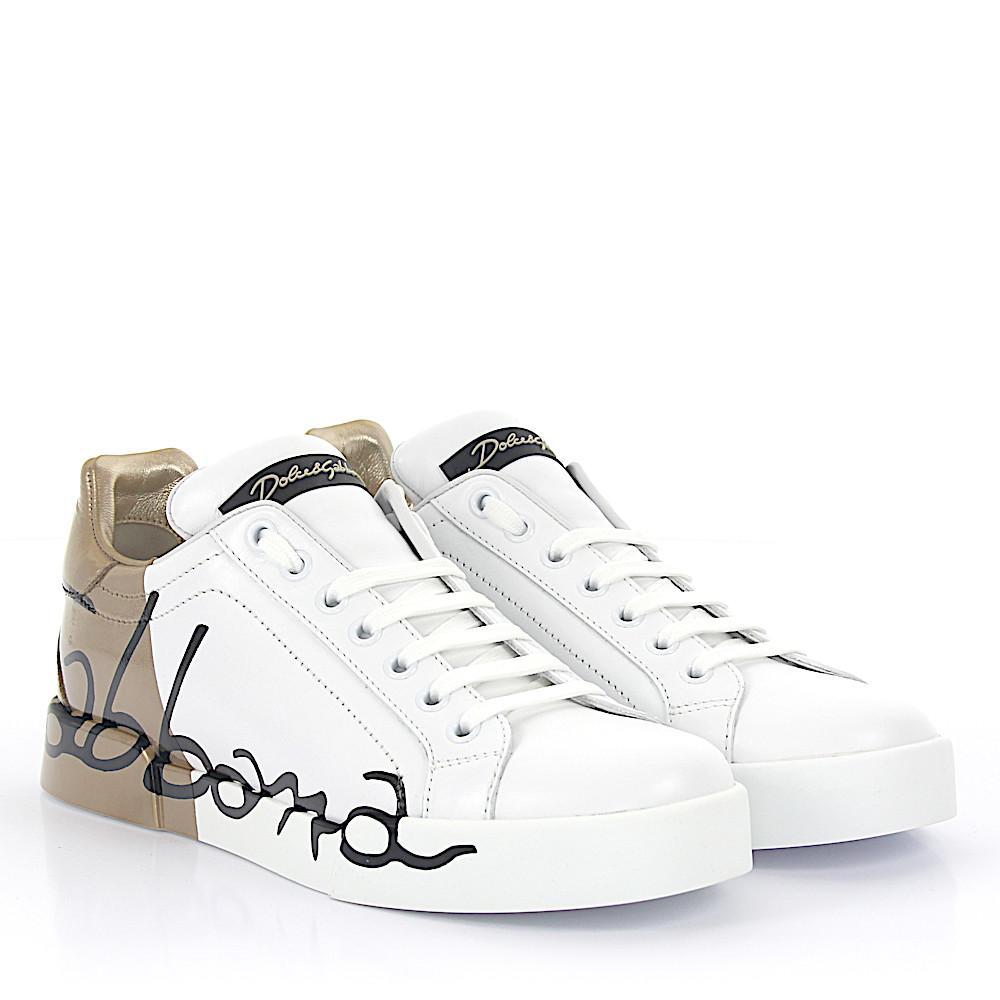 Dolce & GabbanaSneaker PORTOFINO LIGHT nappa leather Logo black vGmKj