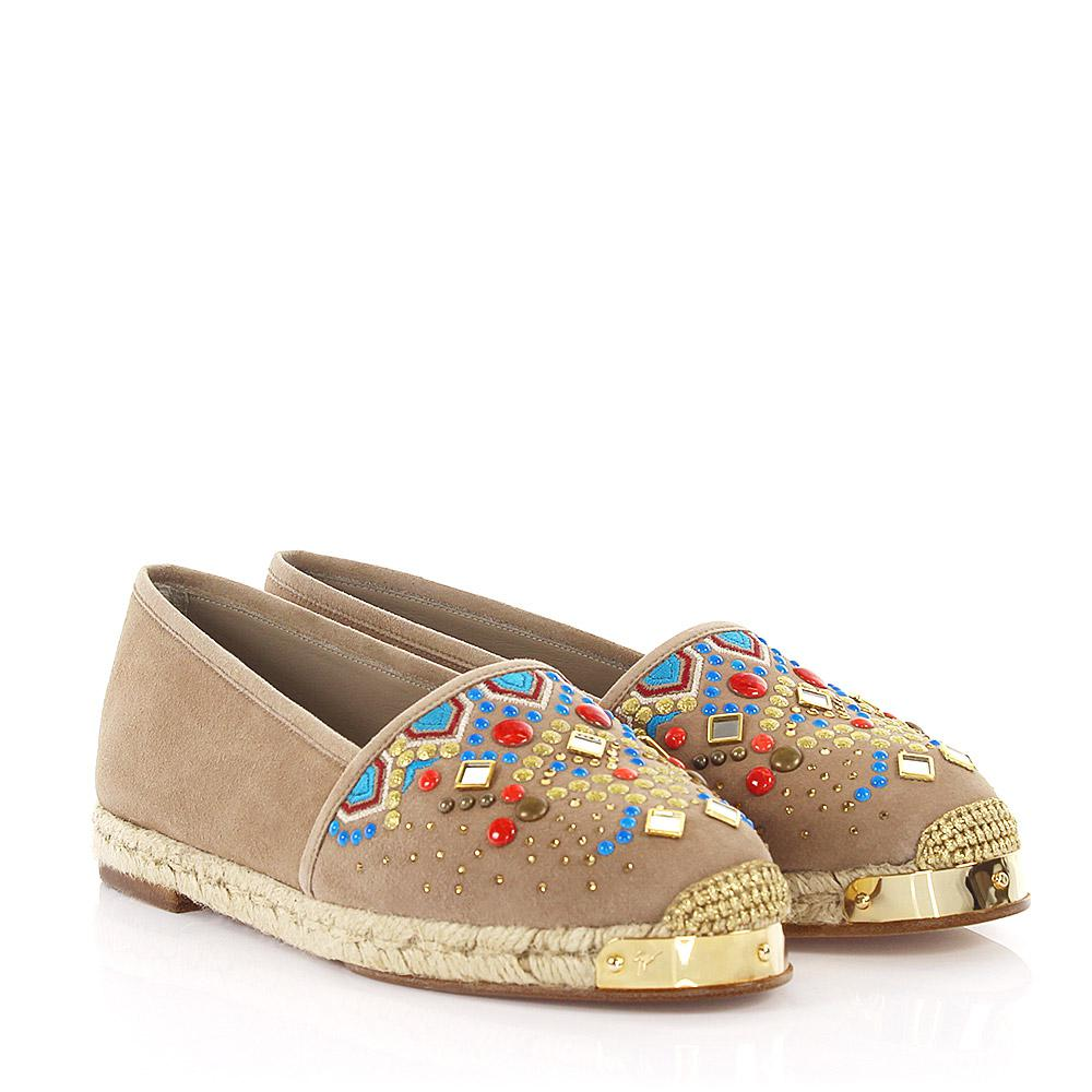 Giuseppe Zanotti Espadrilles Gipsy suede crystals ornament bast OQzb5v