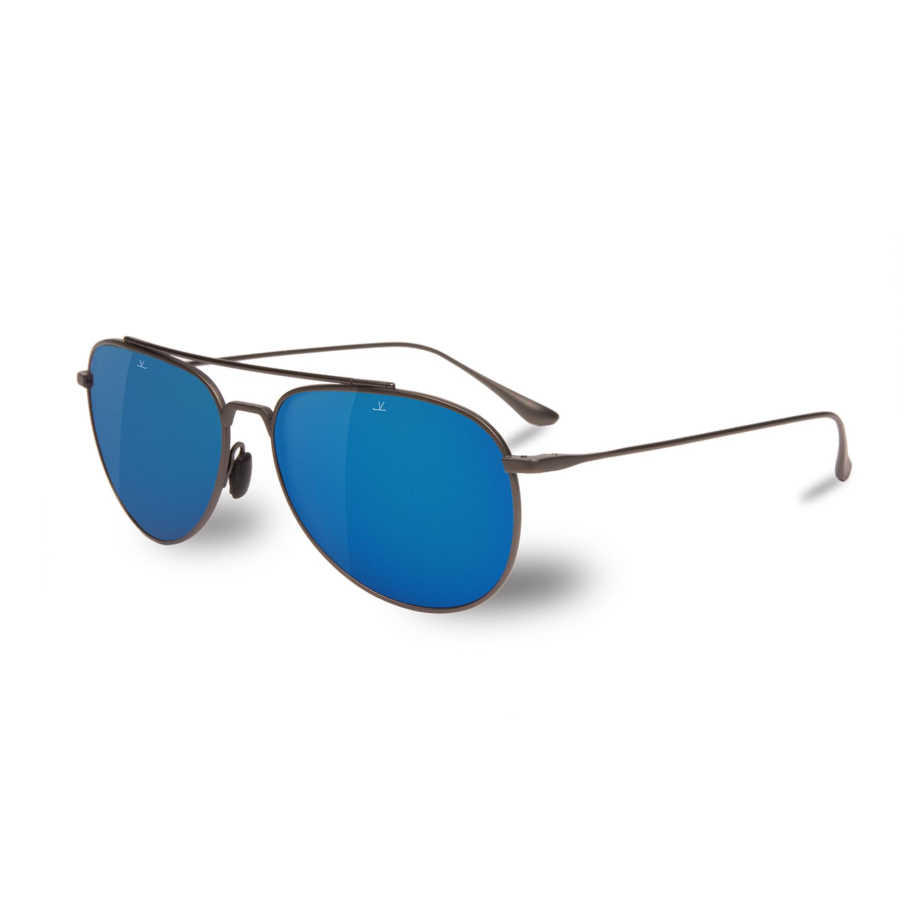 e70786591f Vuarnet - Men Polarized Sunglasses Aviator Pilot Titanium Blue Flash for Men  - Lyst. View fullscreen