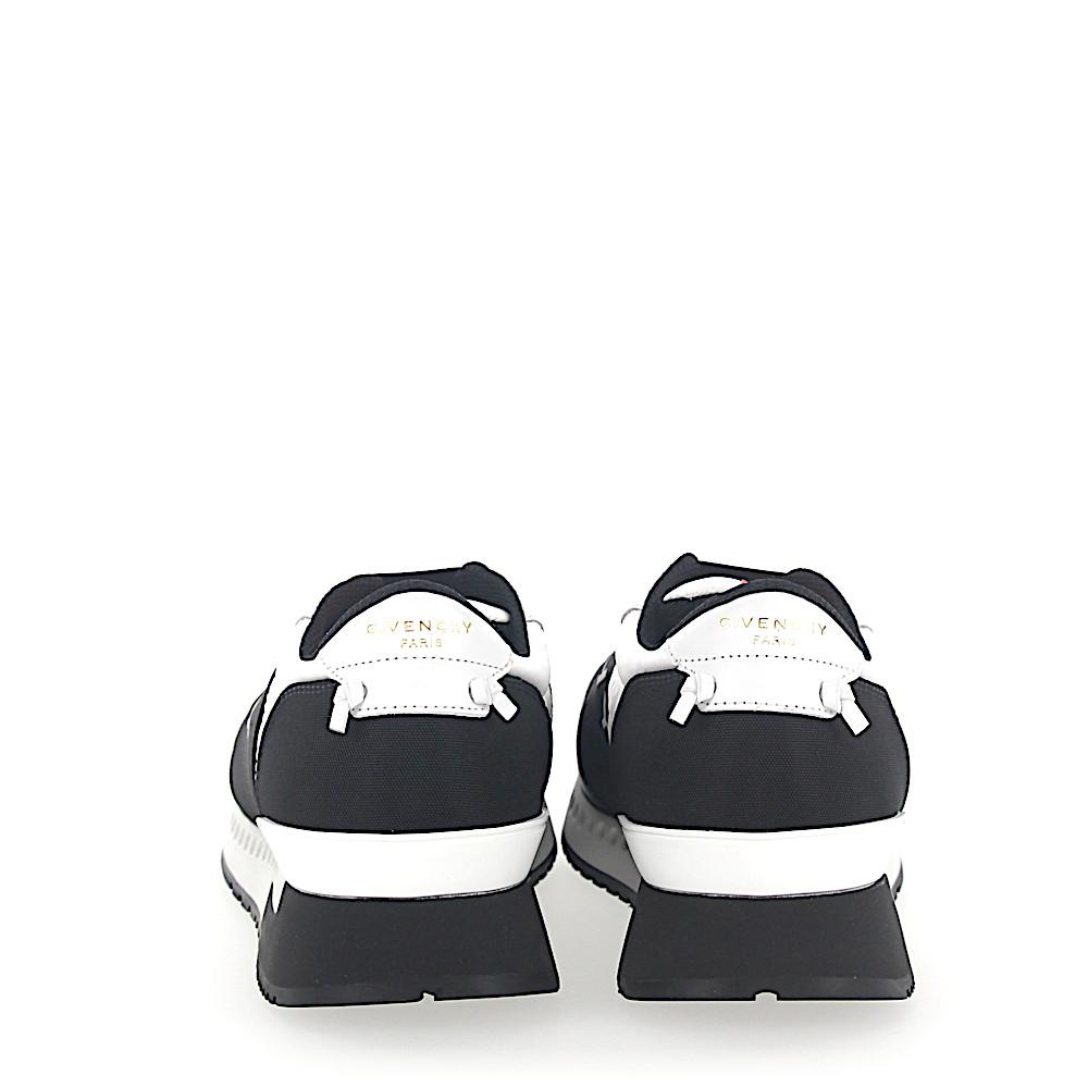Sneakers RUNNER fabric leather black mesh white Givenchy PXkhGS