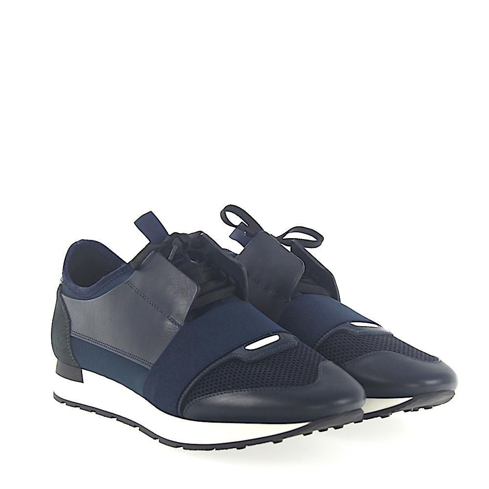 SneakersRACE RUNNER leather suede fabric mesh blue Balenciaga mWtuIBIDR