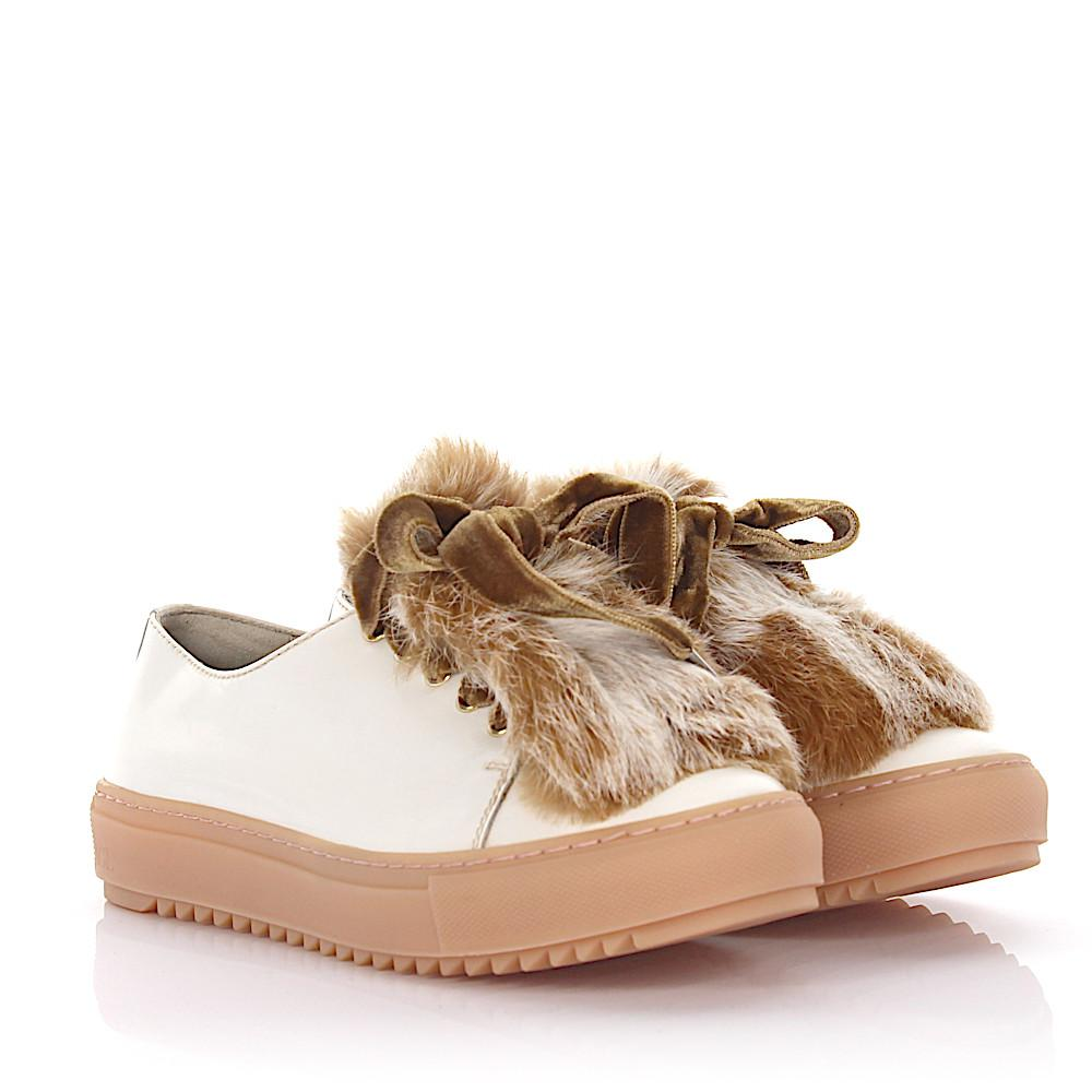 Sale Get To Buy AGL ATTILIO GIUSTI LEOMBRUNI Sneaker calfskin fur smooth leather velvet Fur upper nude pale pink Outlet New Styles Discount Price 100% Guaranteed MjnbmBxid