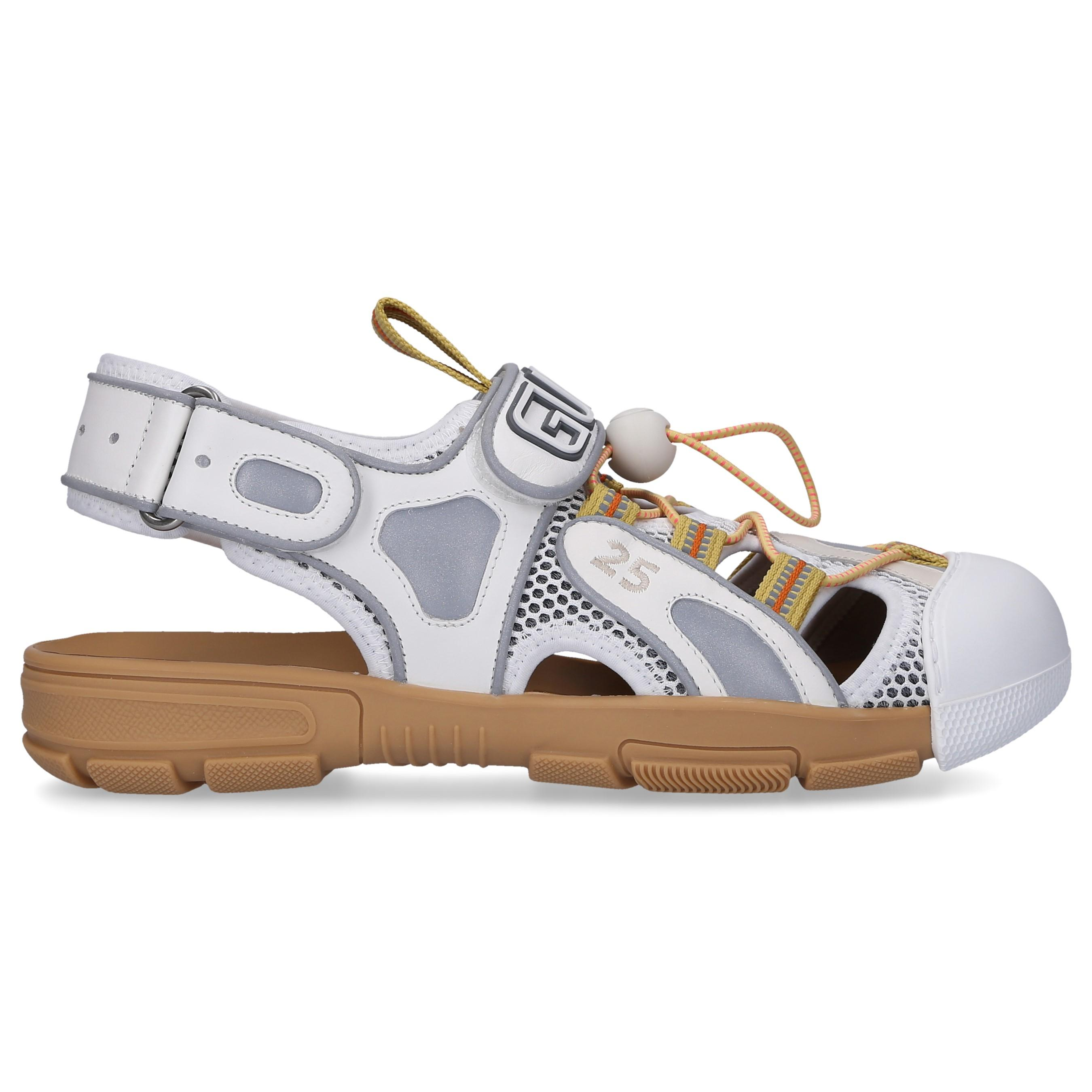 a8d9faff1 Gucci - White Tinsel Mesh And Leather Sandals - Lyst. View fullscreen