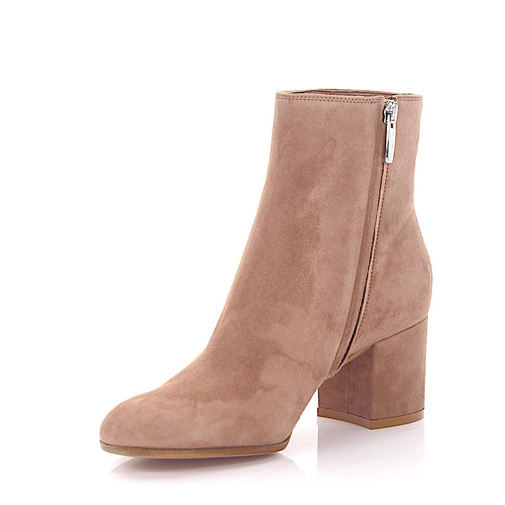 Gianvito Rossi Ankle Boots MARGAUX MID BOOTIE calfskin suede c1TM7Hdr1