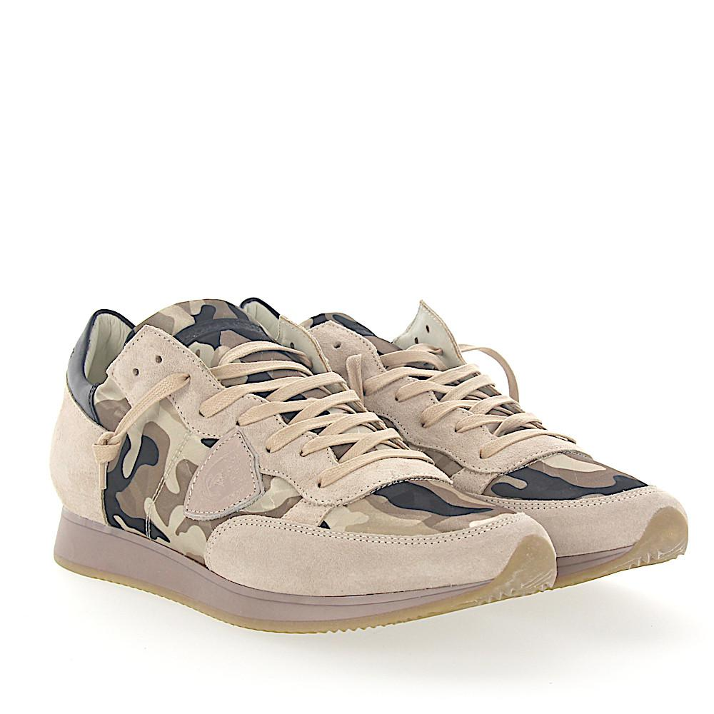 Philippe Model Sneakers Tropez in Leder Schwarz  Camouflage