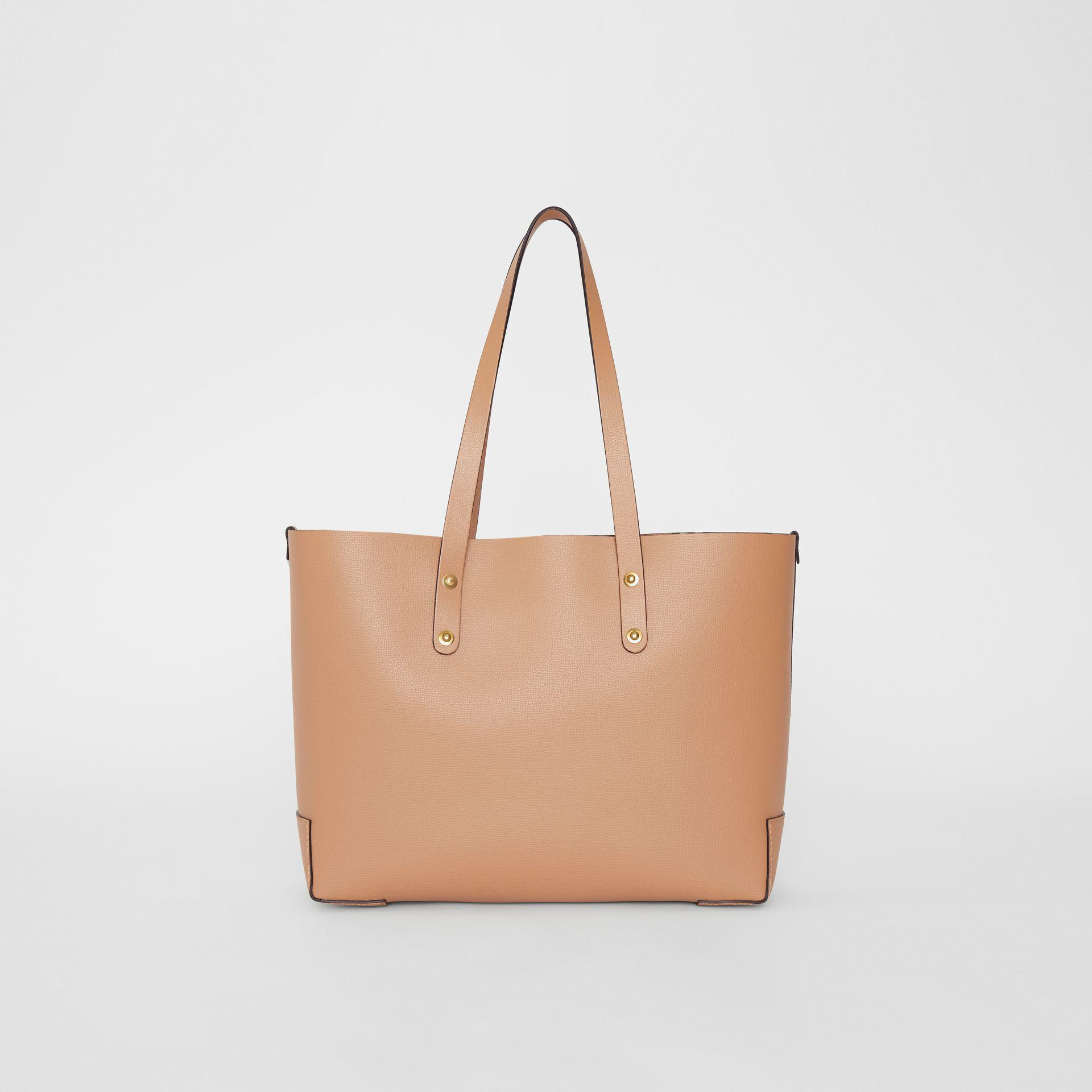 18efa19a6478 Burberry - Natural Small Embossed Crest Leather Tote - Lyst. View fullscreen