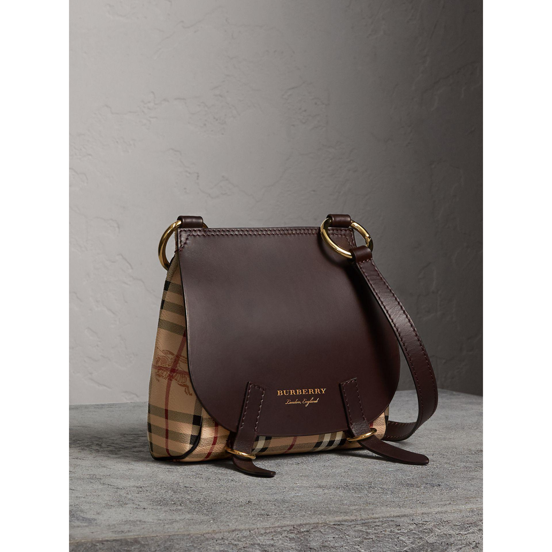 b9c628889d11 Lyst - Burberry The Bridle Crossbody Bag In Haymarket Check - Women ...