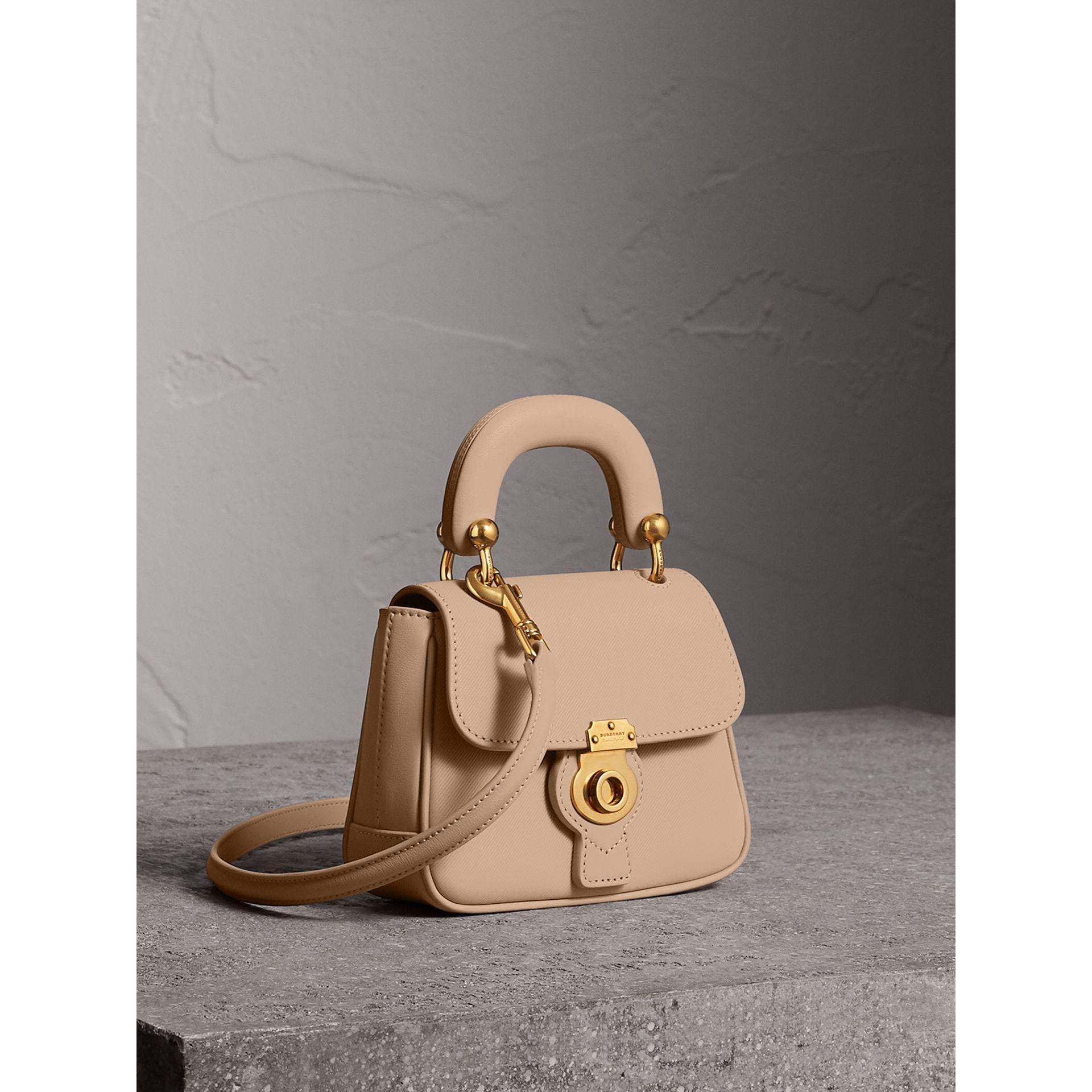 3a2b28d78ea3 Burberry The Mini Dk88 Top Handle Bag In Honey
