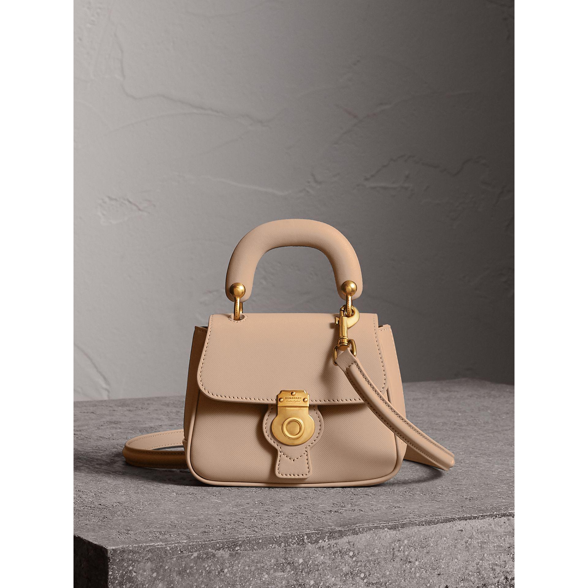 Lyst - Burberry The Mini Dk88 Top Handle Bag In Honey  c9a9e08c2cfc8
