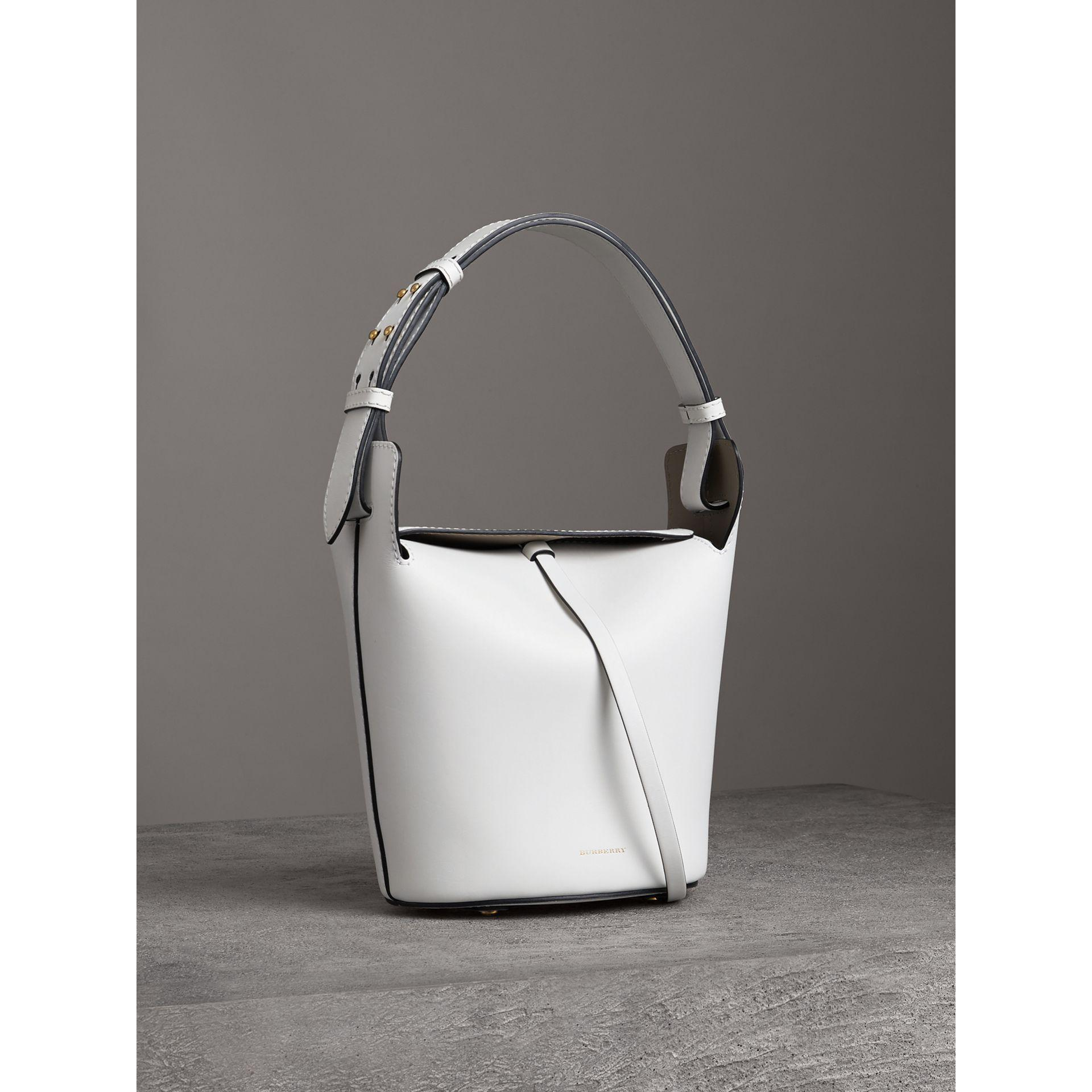 377edee17694 Burberry - White The Small Leather Bucket Bag - Lyst. View fullscreen