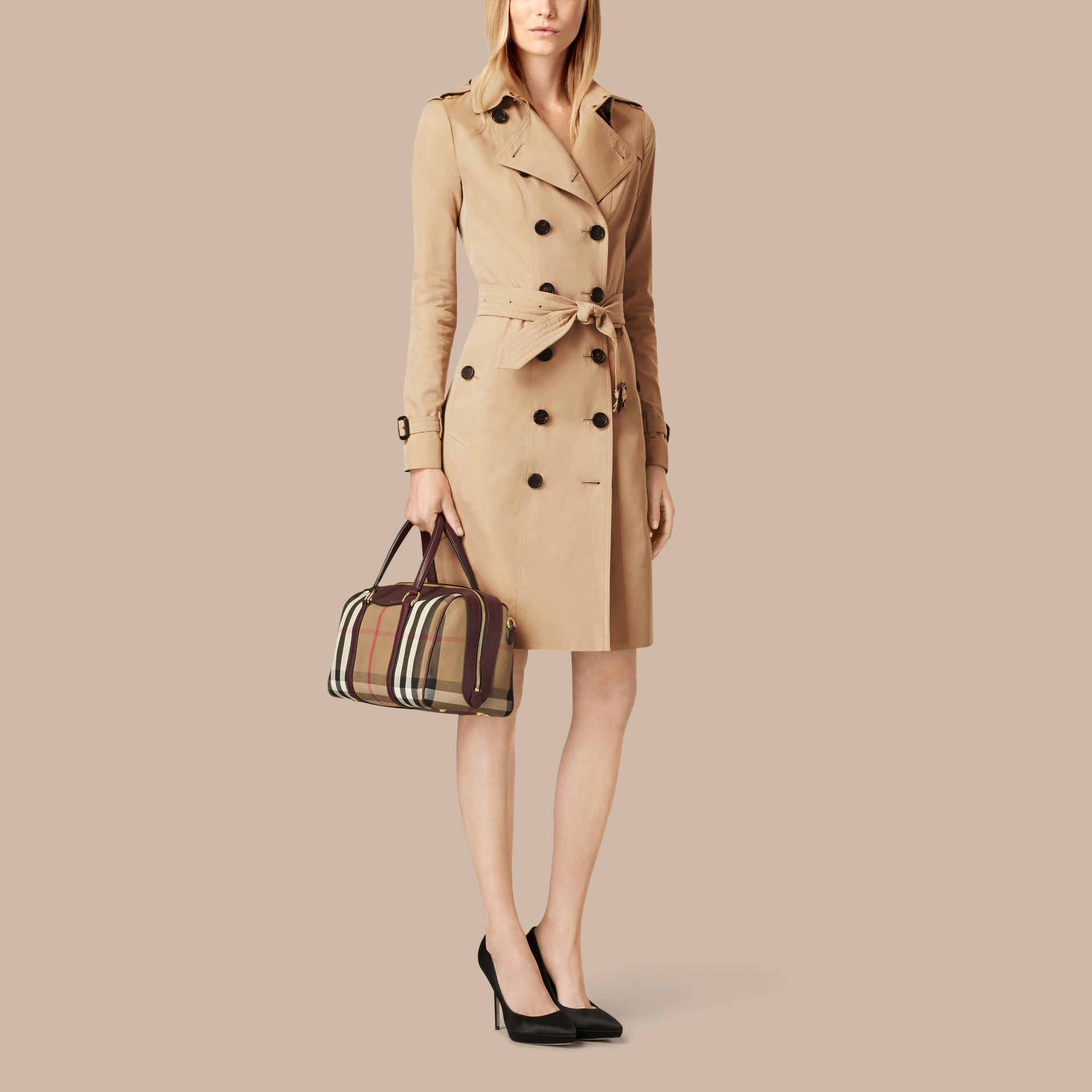 bfaf2ac64e41 Burberry The Medium Alchester House Check And Leather Bag in Brown ...