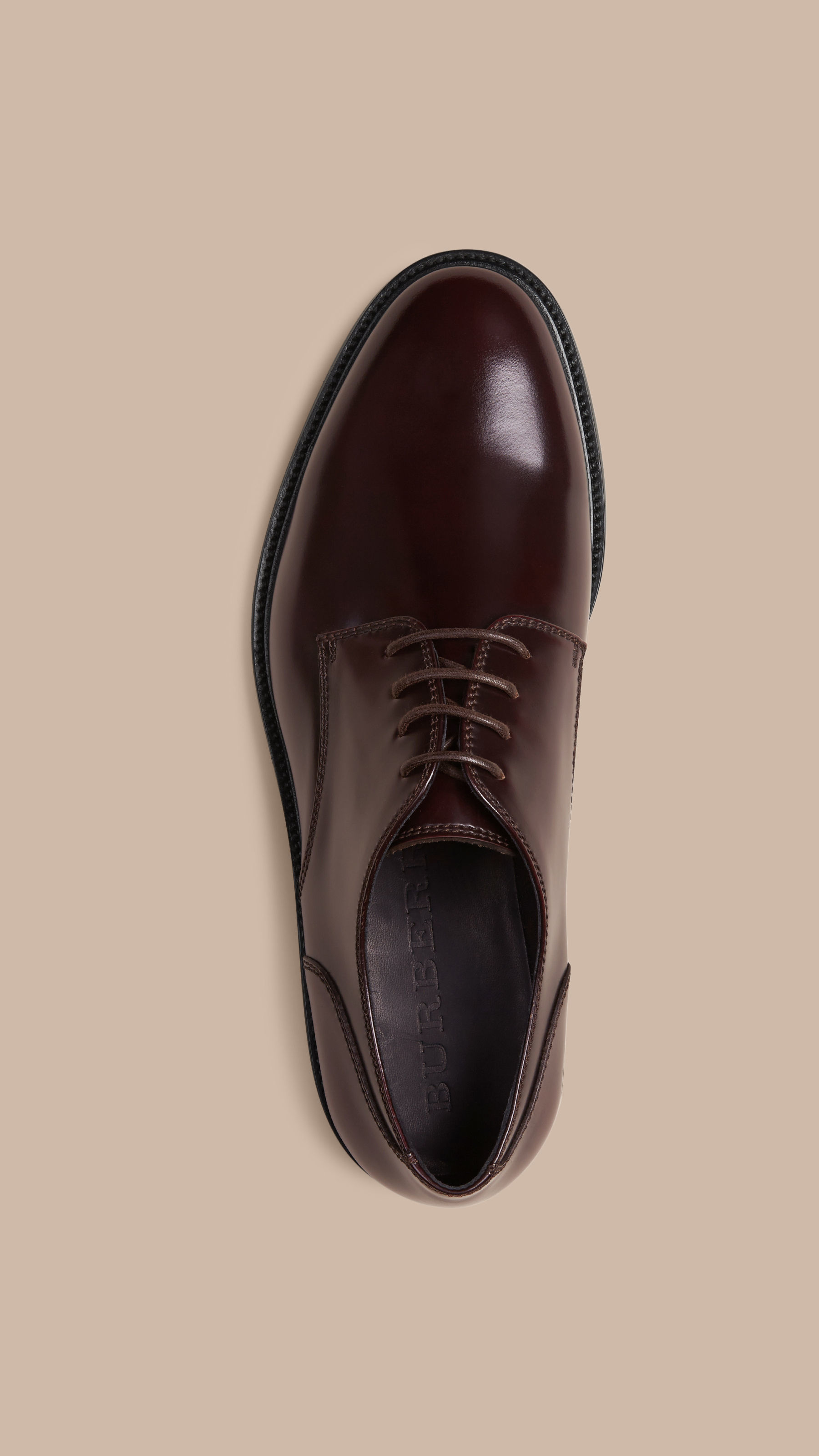 Burberry Leather Derby Shoes Oxblood in Purple for Men   Lyst