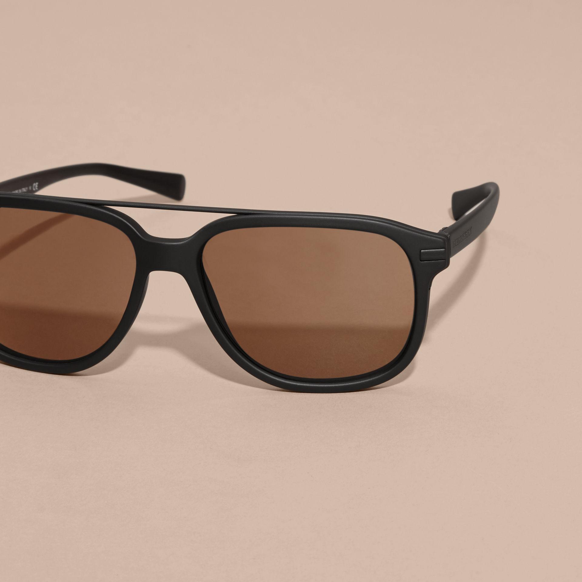 Burberry Glasses Frame Parts : Burberry Square Frame Sunglasses Black in Black for Men Lyst