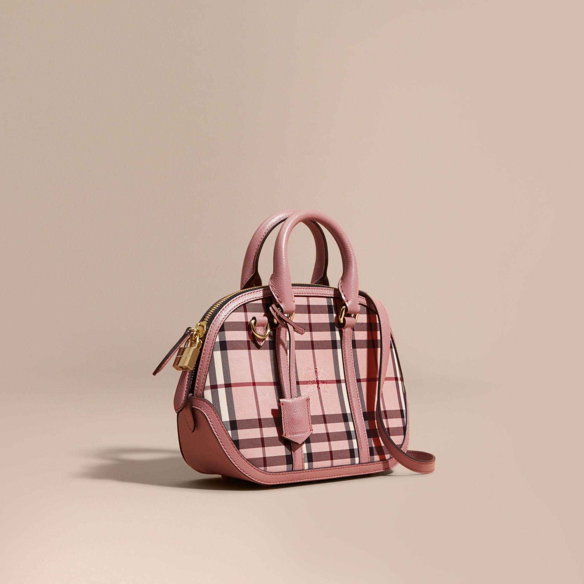 53ba2f450404 Lyst - Burberry The Small Orchard In Overdyed Horseferry Check in Pink