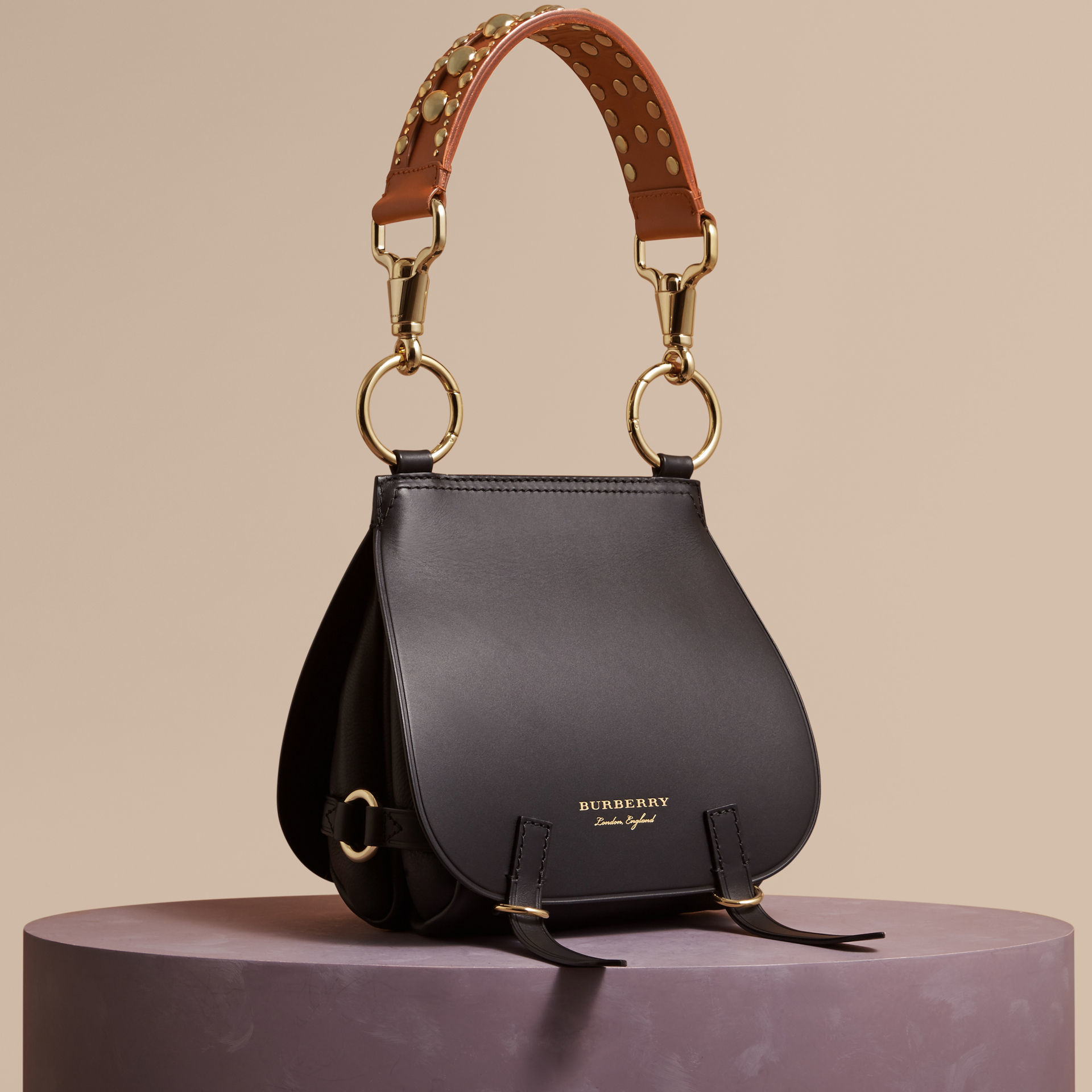 Lyst - Burberry The Bridle Leather Shoulder Bag