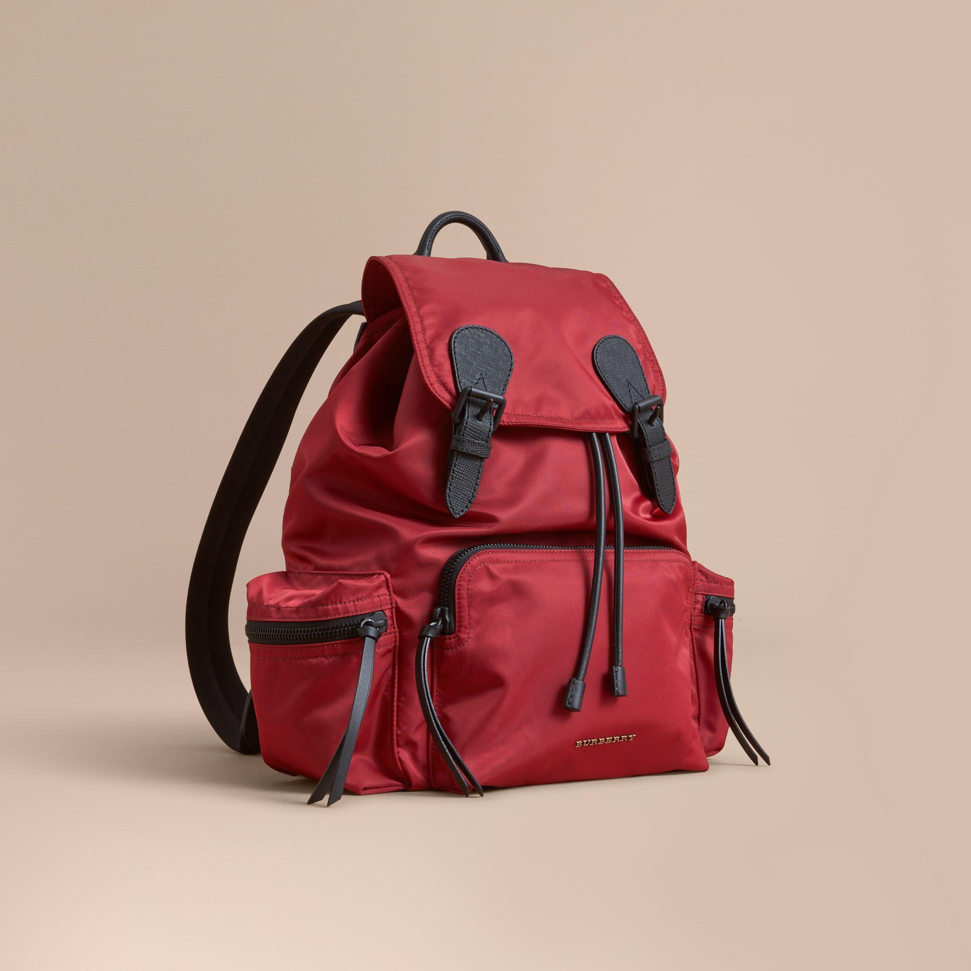 da9d3a6b807 Lyst - Burberry The Large Rucksack In Technical Nylon And Leather ...