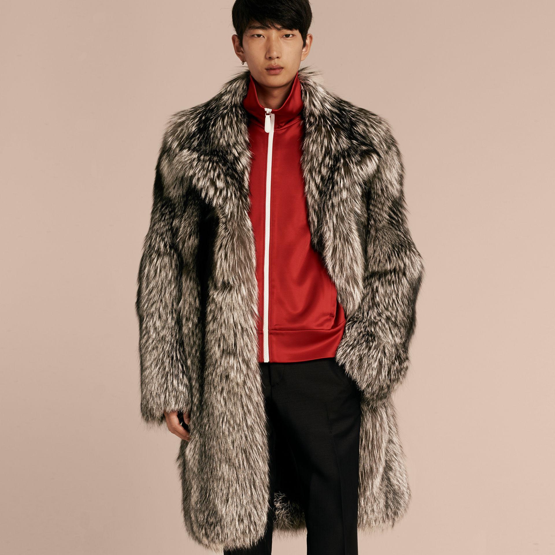 32b8dc50d662b Mens Blue Fox Fur Coat - Tradingbasis