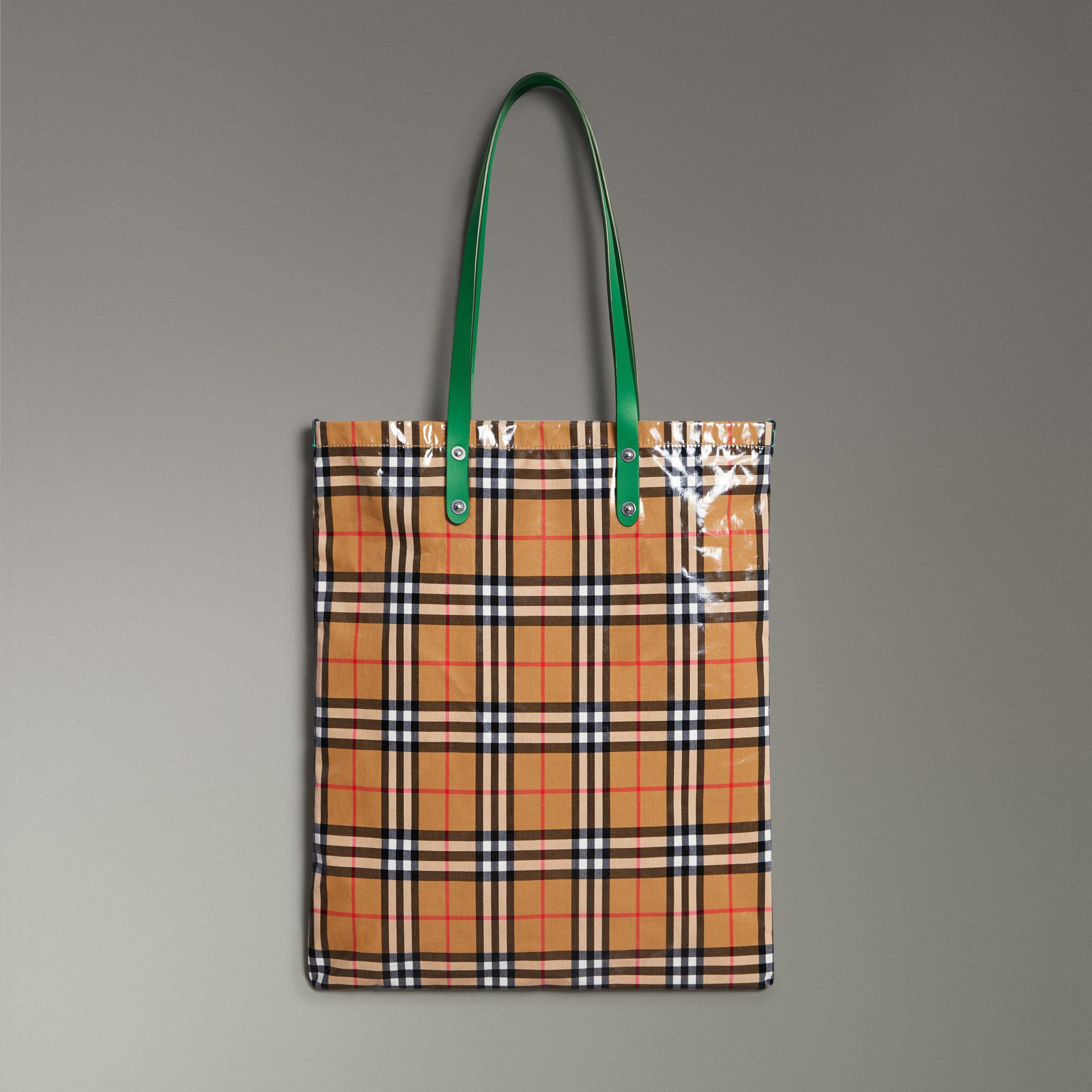 051473a4fcbb Lyst - Burberry Large Coated Vintage Check Shopper