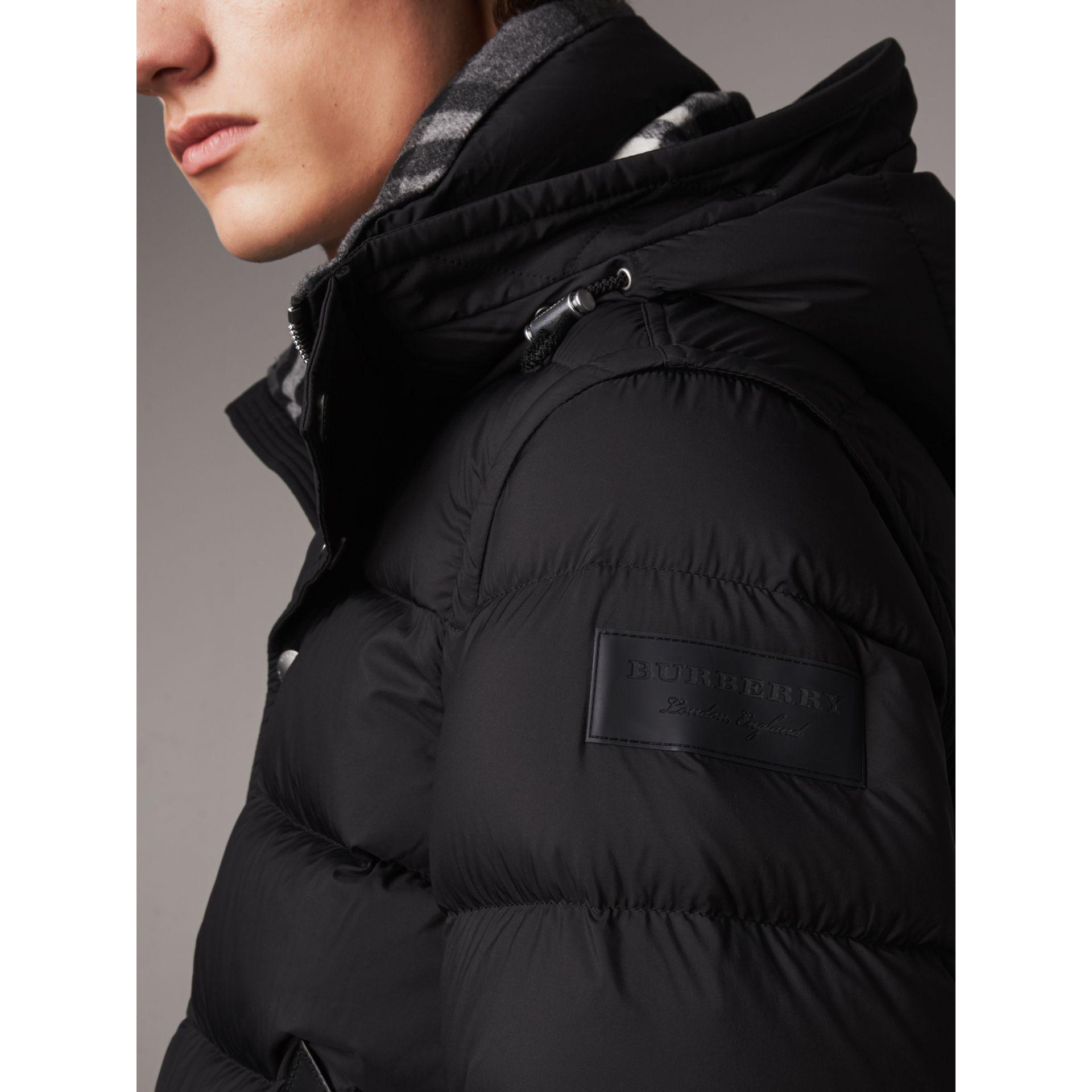 fc6cfba04960 Burberry Detachable-sleeve Down-filled Puffer Jacket in Black for ...