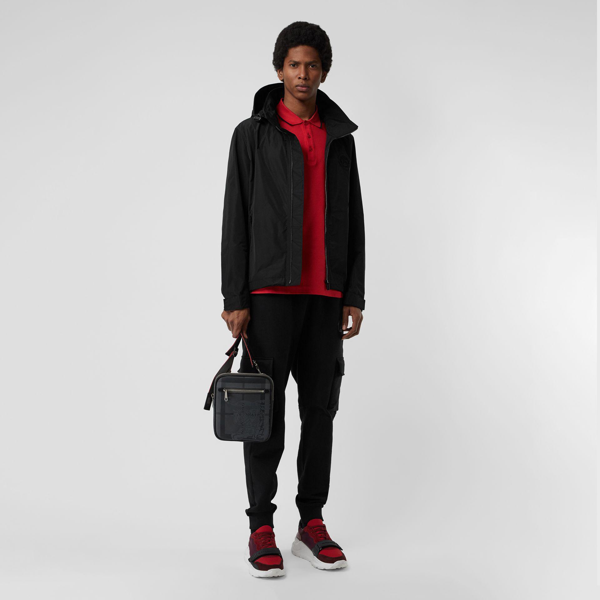 In Hood Black Jacket Shape Burberry Taffeta Packaway Lyst Memory gqOFZCwn