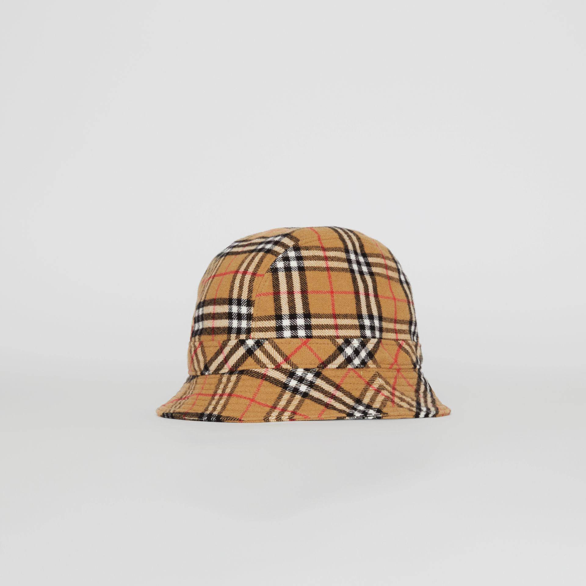 Lyst - Burberry Gosha X Check Flannel Bucket Hat 1d36a541283