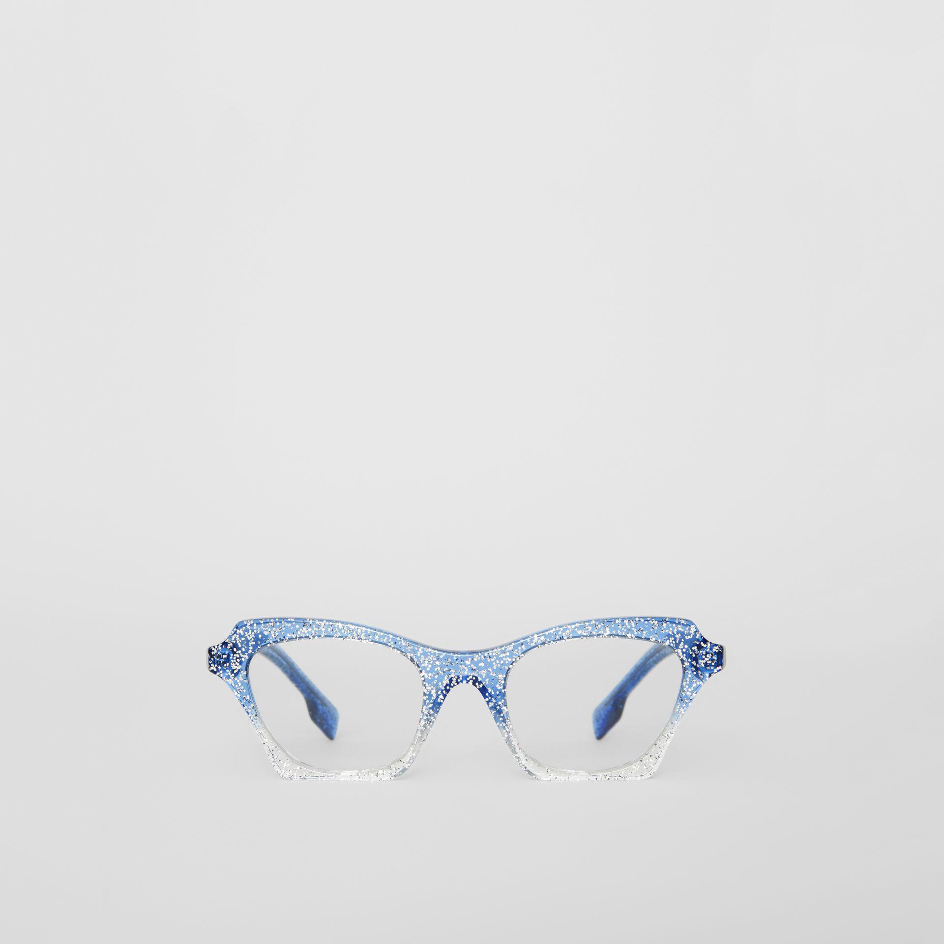 869e433f64d Burberry Glitter Detail Butterfly Optical Frames in Blue - Lyst