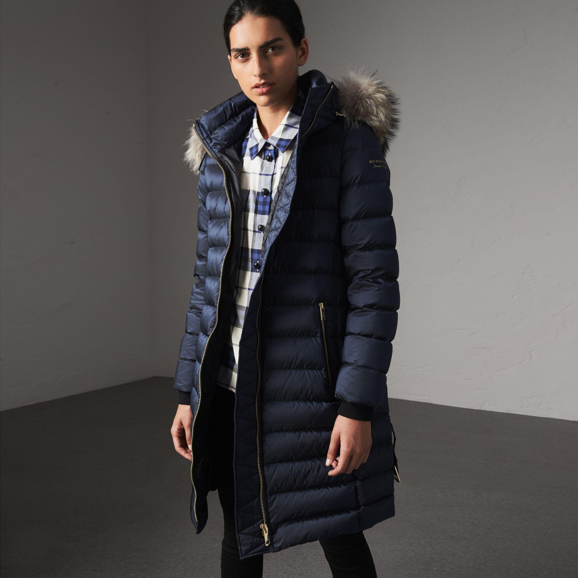 a26759142 Burberry Detachable Fur Trim Down-filled Puffer Coat With Hood in ...
