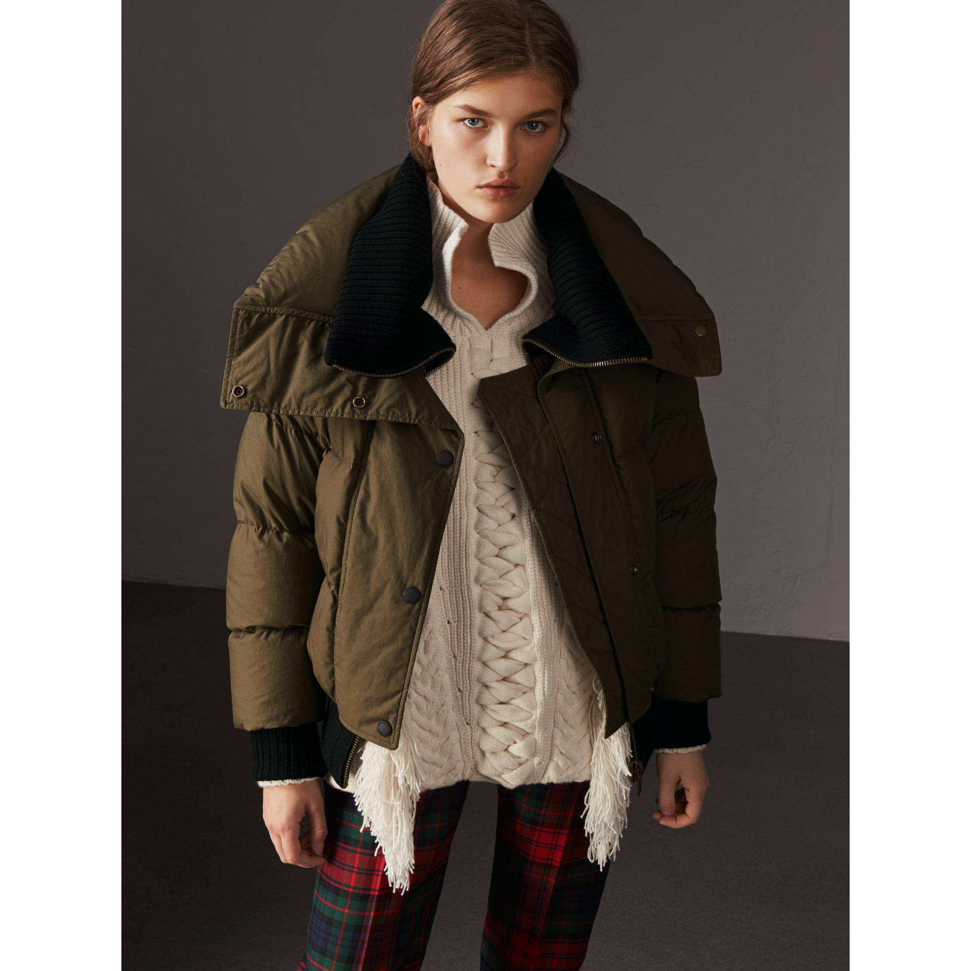 Burberry Oversized Rib Knit Collar Down-filled Bomber Jacket Cheap Limited Edition With Mastercard Cheap Online Original Cheap Online KXTSx2