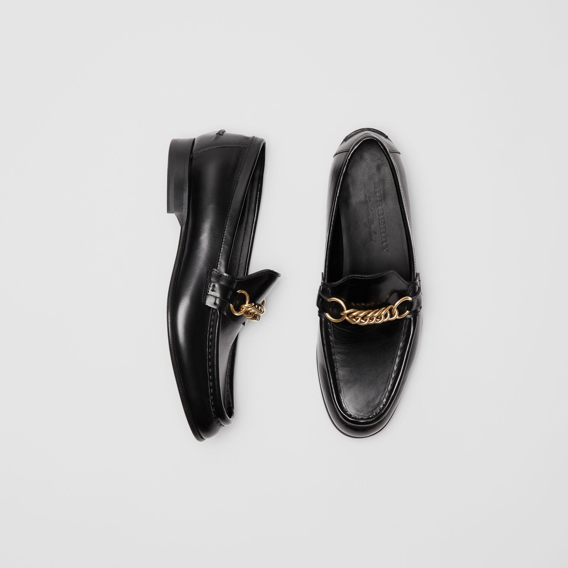 39a94cb3d9ed Burberry - Black The Leather Link Loafer - Lyst. View fullscreen
