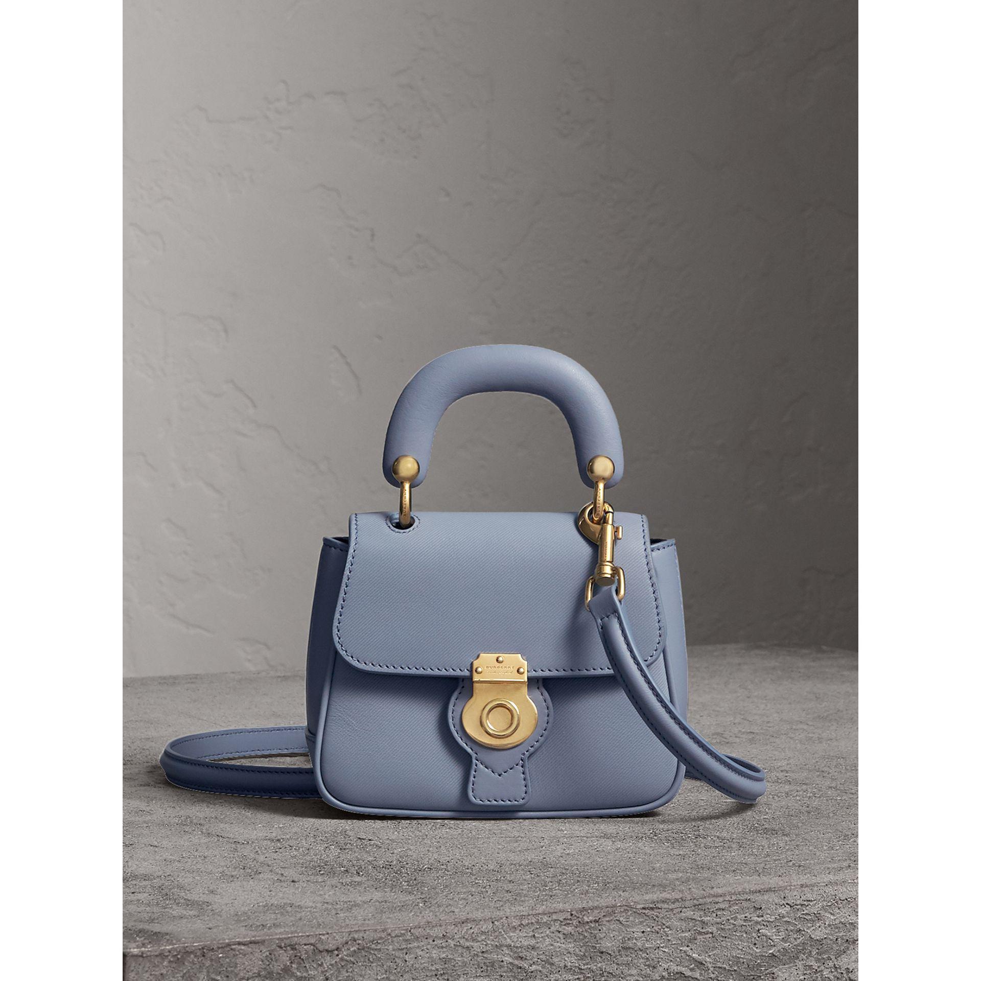 b69e3572e69e Lyst - Burberry The Mini Dk88 Top Handle Bag In Slate Blue