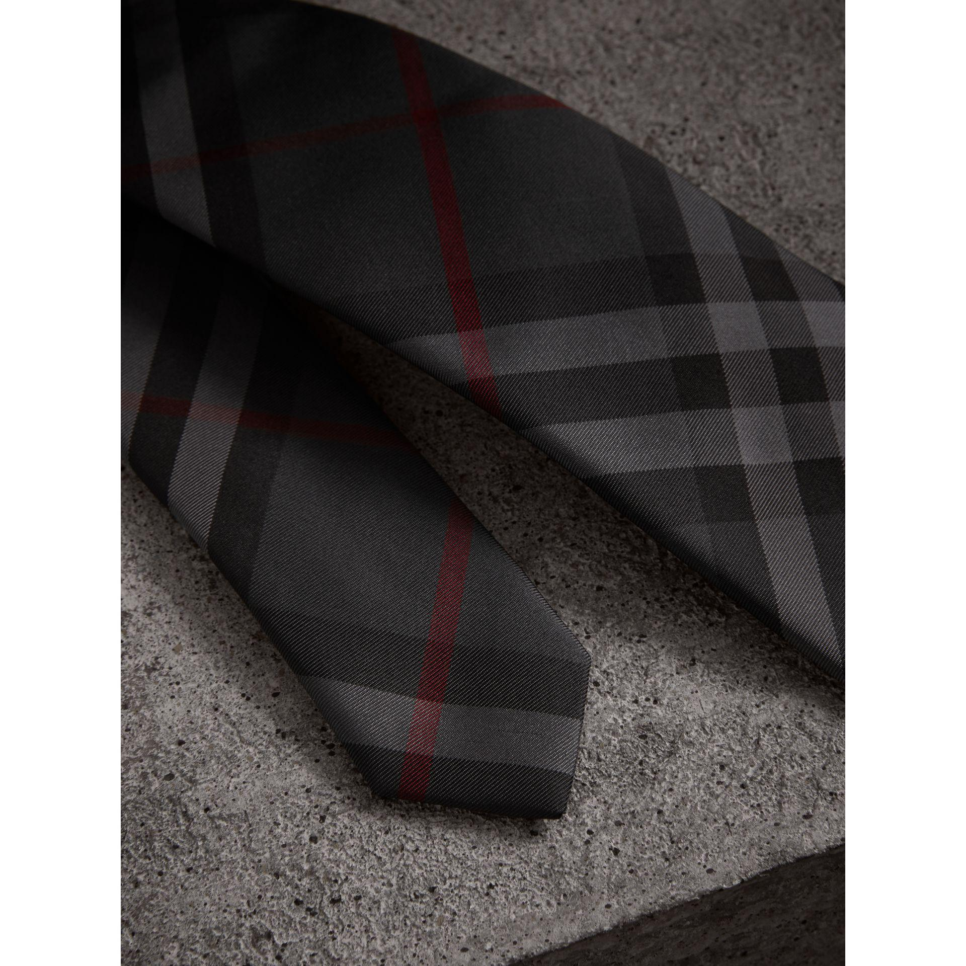 Check twill tie - Grey Burberry