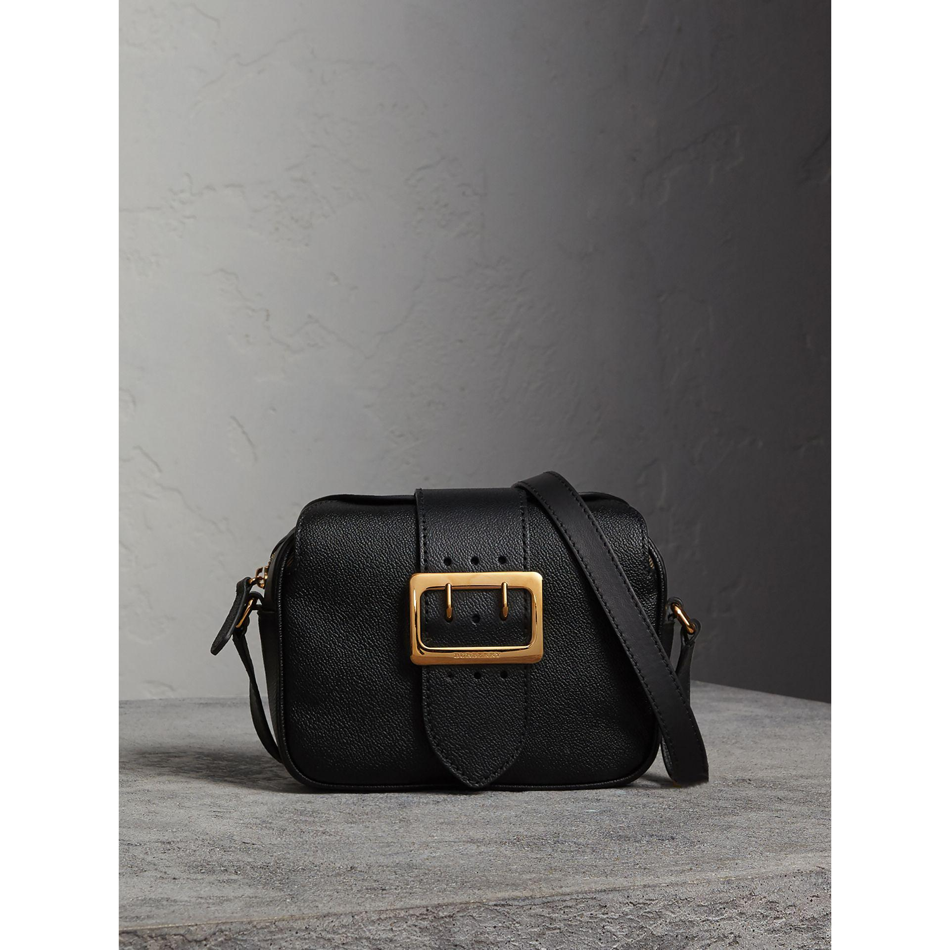 340d9b7fa806 Lyst - Burberry The Small Buckle Crossbody Bag In Leather in Black