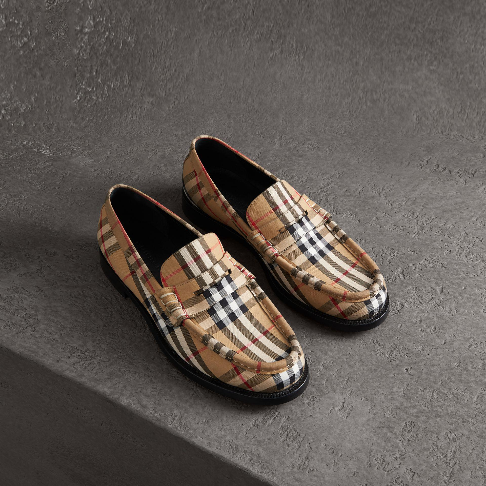 c6fdd203f Burberry Vintage Check Cotton Loafers for Men - Lyst