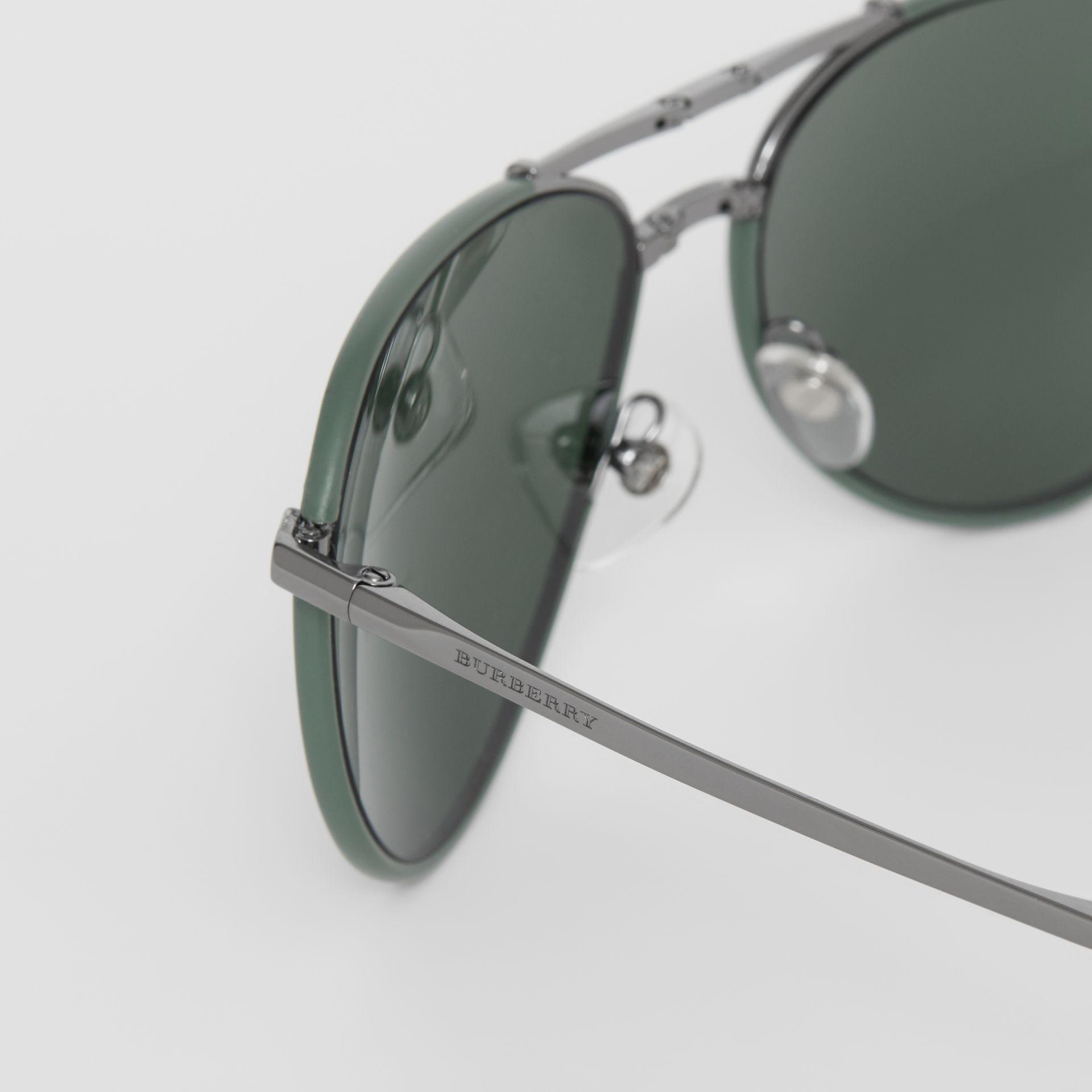 7038770a8f8 Burberry - Green Folding Pilot Sunglasses for Men - Lyst. View fullscreen
