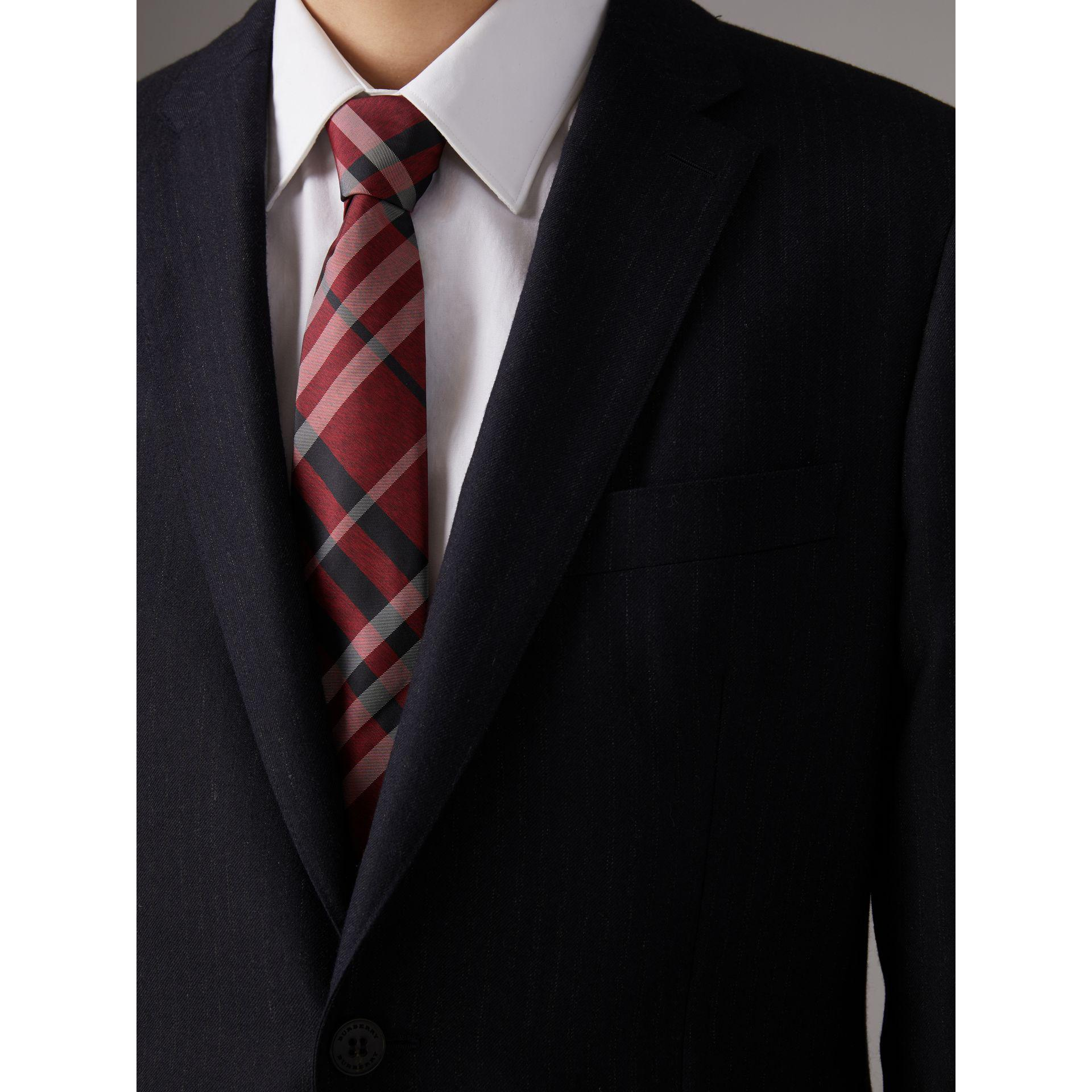 Modern Cut Check Tie - Red Burberry 4KuHrV